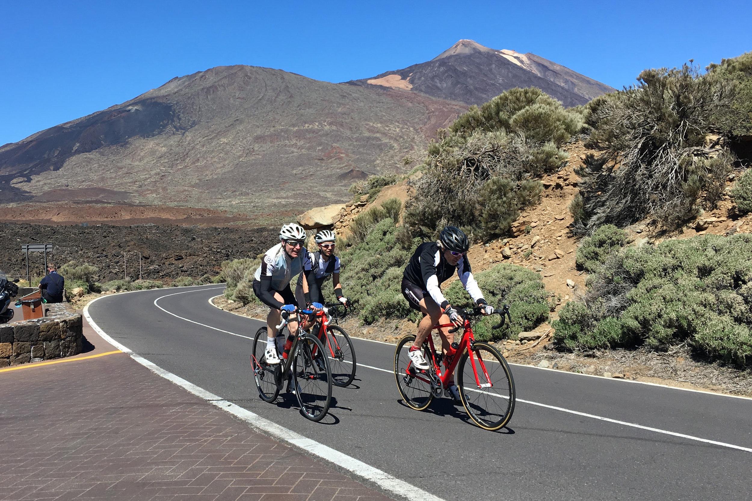 Training on roads in Tenerife