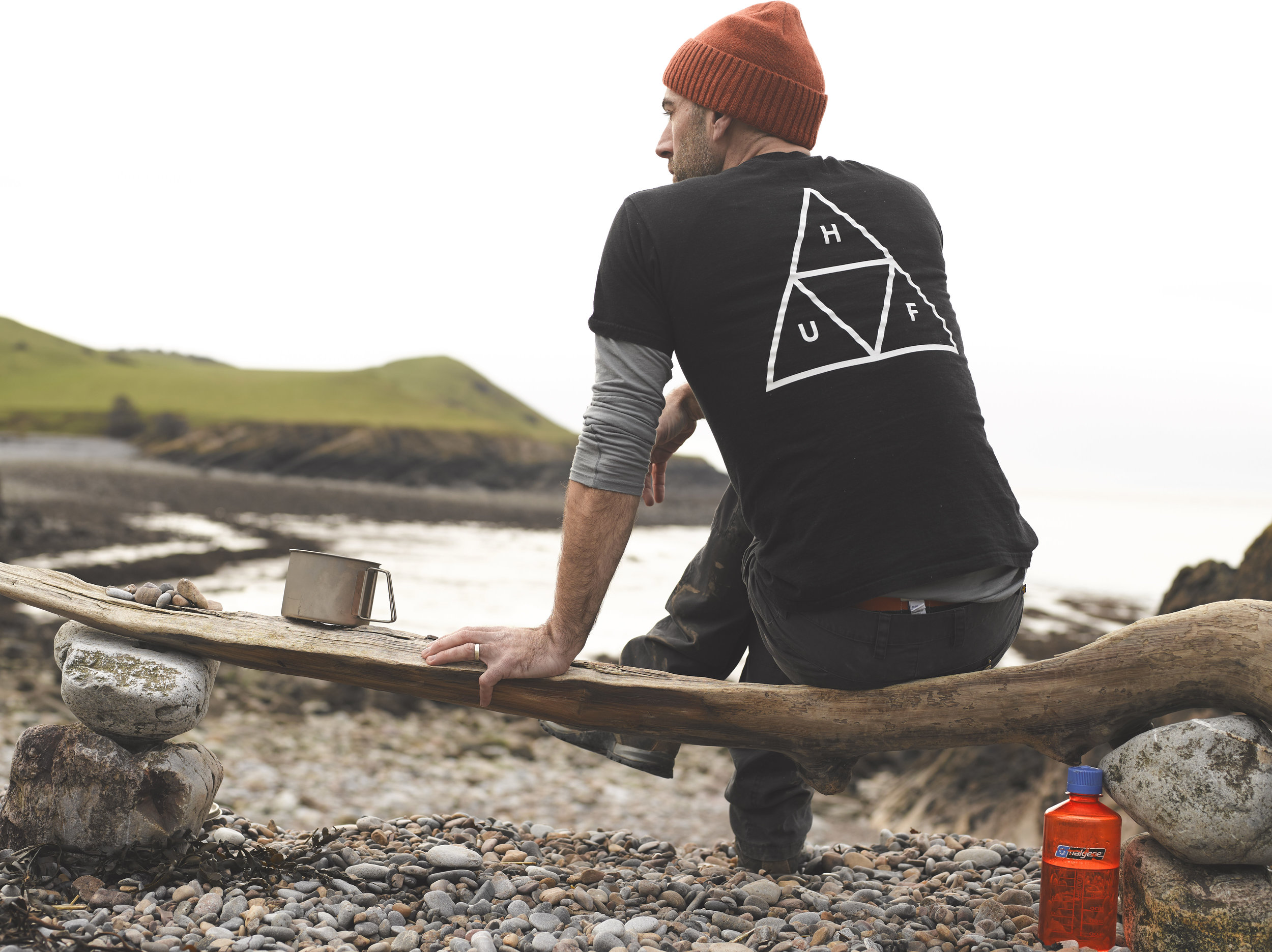 Beach foraging and contemplation