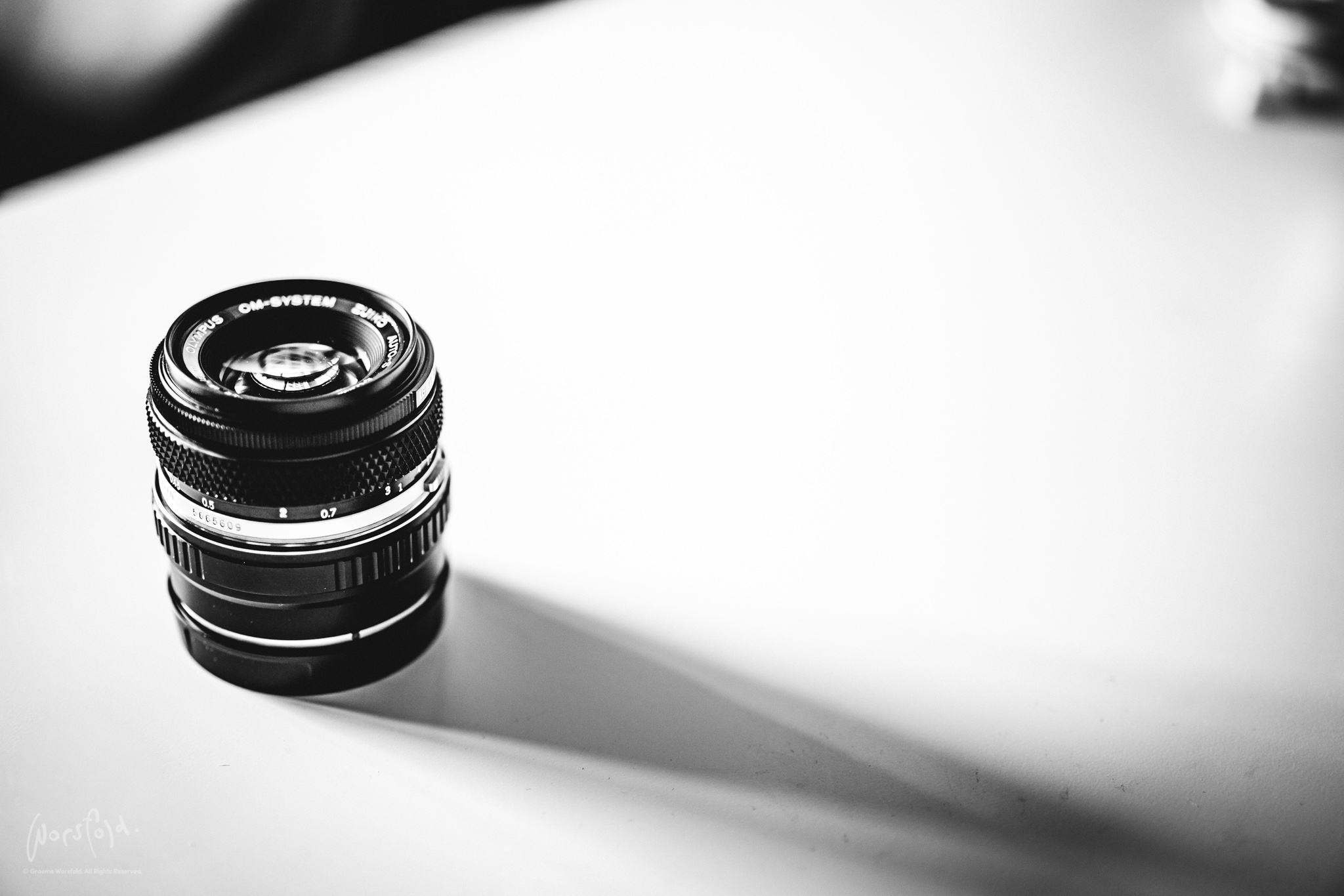 My weapon of choice: the OM-System Zuiko Auto-S 50 mm f/ 1.8