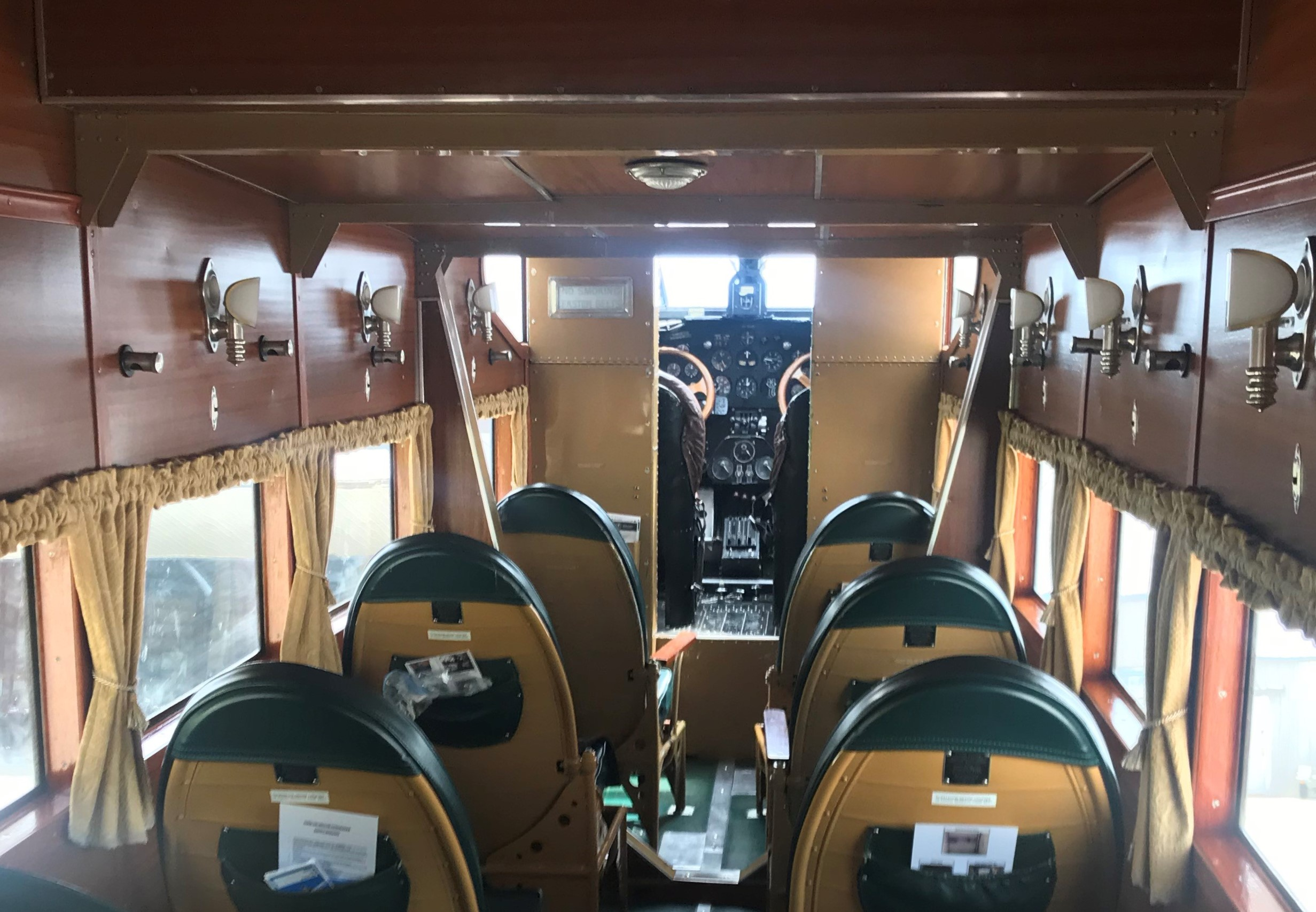 Henry Ford wanted the interior of his Tri-Motor airplane to resemble a rail car to make travelers more comfortable with air travel.