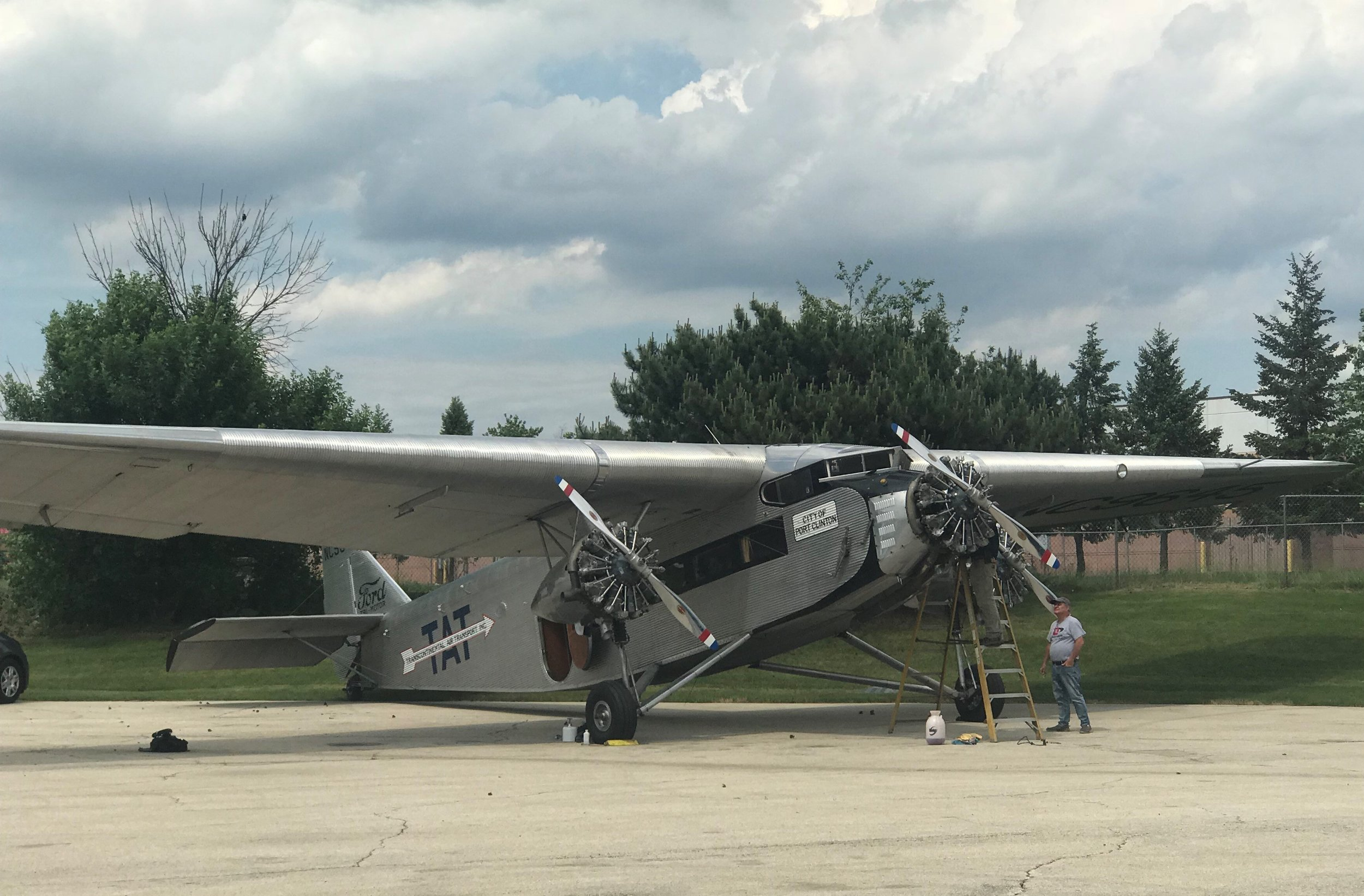 Built in 1928, the 80 year old Ford Tri-Motor is a leading attraction at the 'Cavalcade of Planes' at Bolingbrook's Clow International Airport