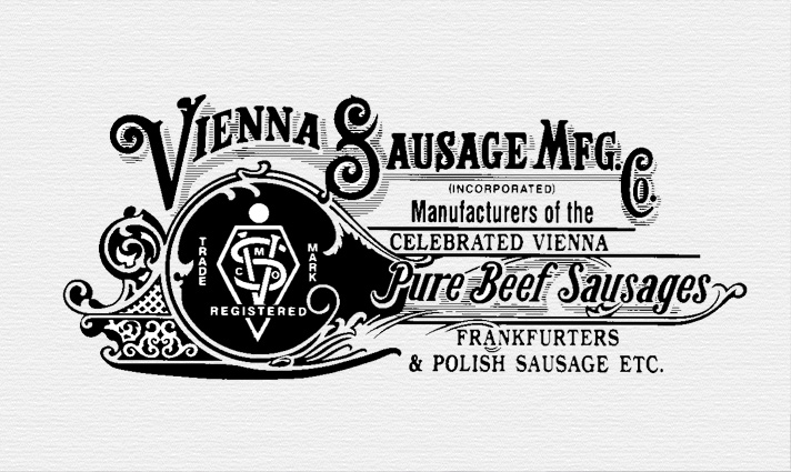 the original Vienna Beef Logo is on display at the company's pop-up museum