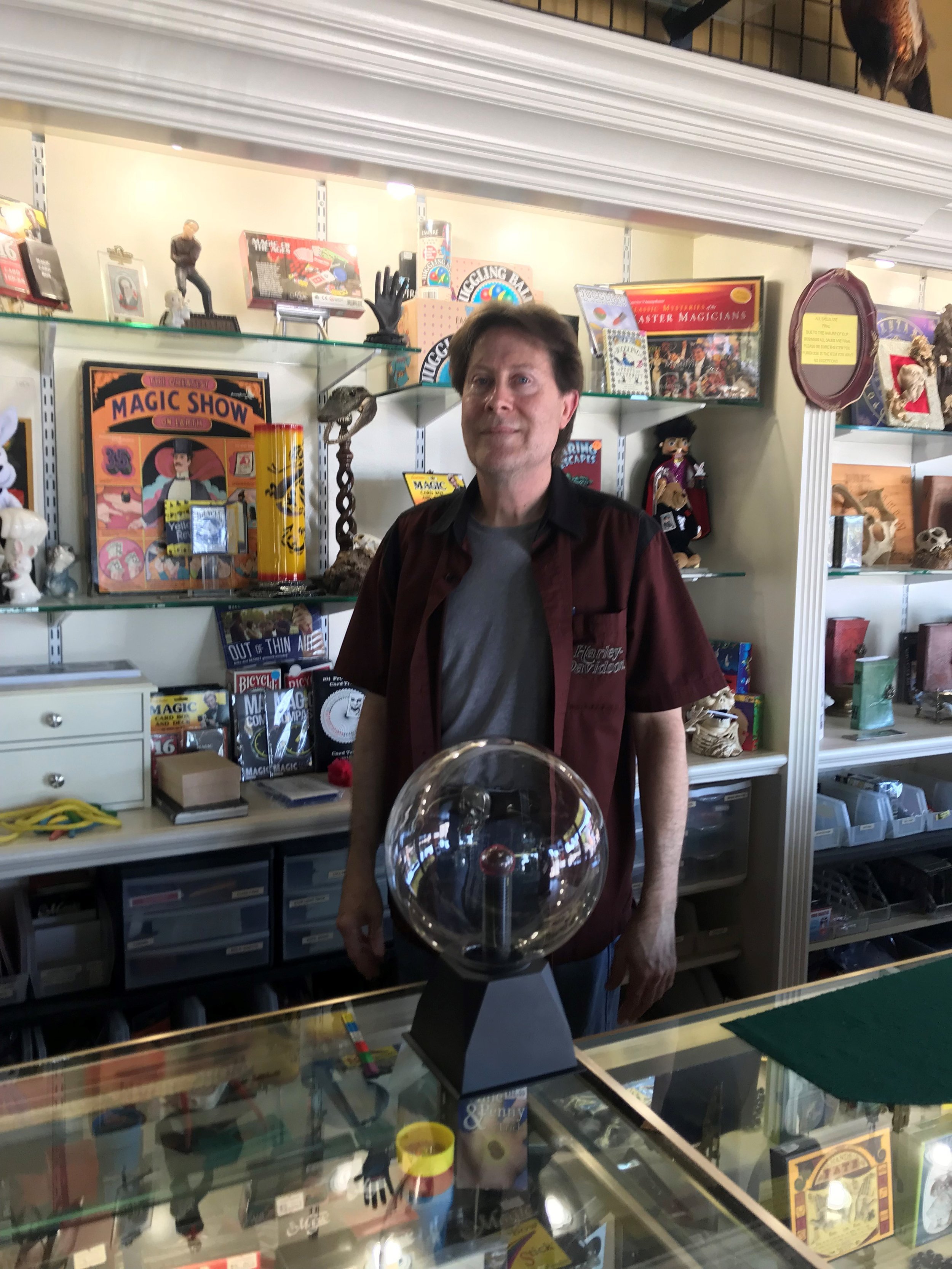 Bob James has owned and operated his magic shop in Elmhurst for 27 years