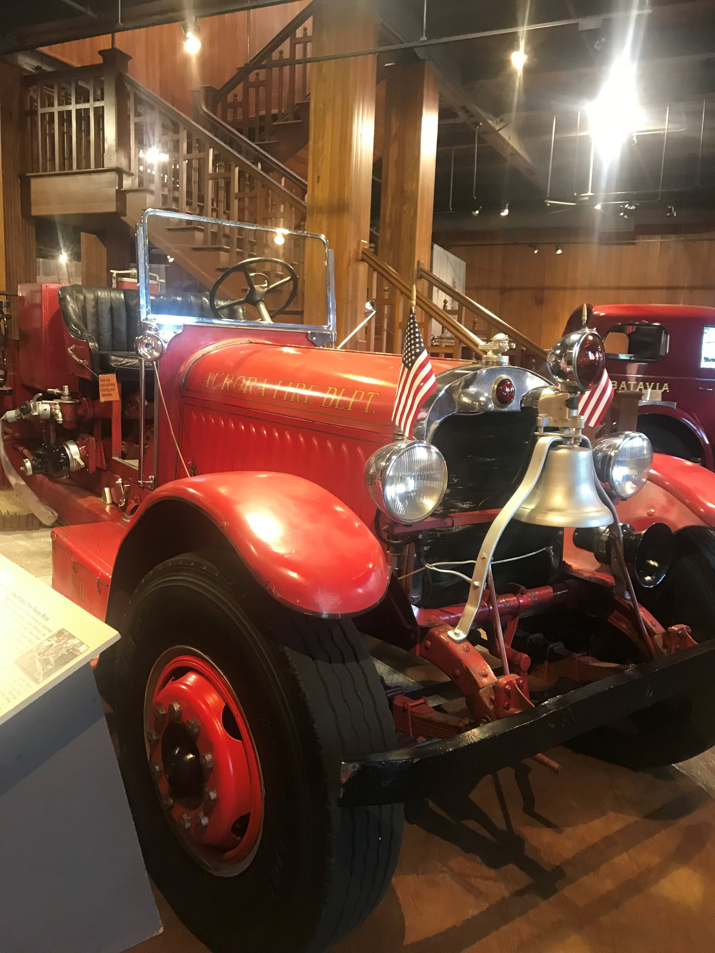 One of the early engines on display at the Aurora Regional Fire Museum