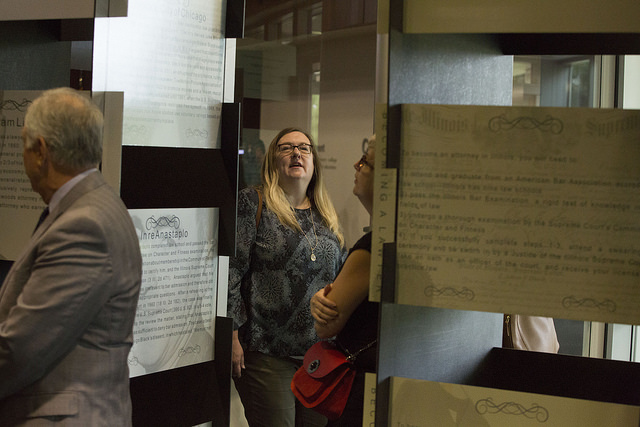 Visitors can review the Illinois Supreme Court Bicentennial Exhibit at College of DuPage through the end of October