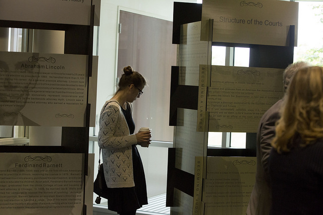 An exhibit of the Illinois Judicial system's bicentennial debuted at College of DuPage this month, it will travel the state through 2019
