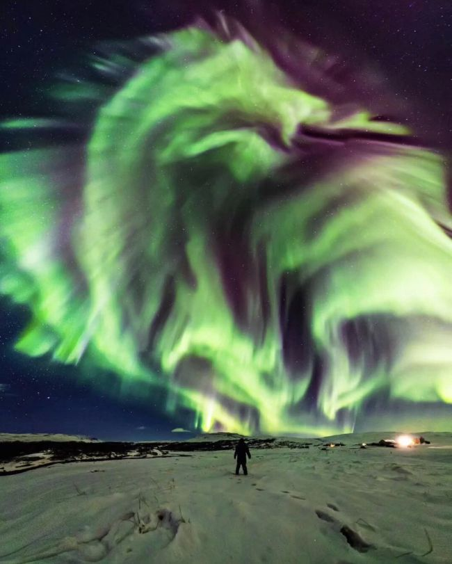 A recent photo of the Aurora Borealis looked to some like a dragon descending from the sky (photo courtesty of NASA.gov)