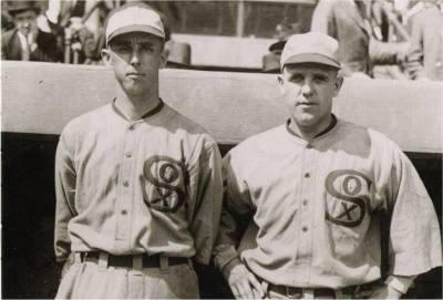 Lefty Williams (left) and Eddie Cicotte    (photo courtesy of SABR)