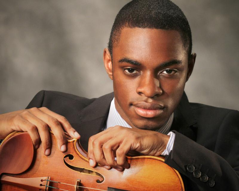 Classical violinist and Springfield native Clayton Penrose-Whitmore performed recently in central Illinois