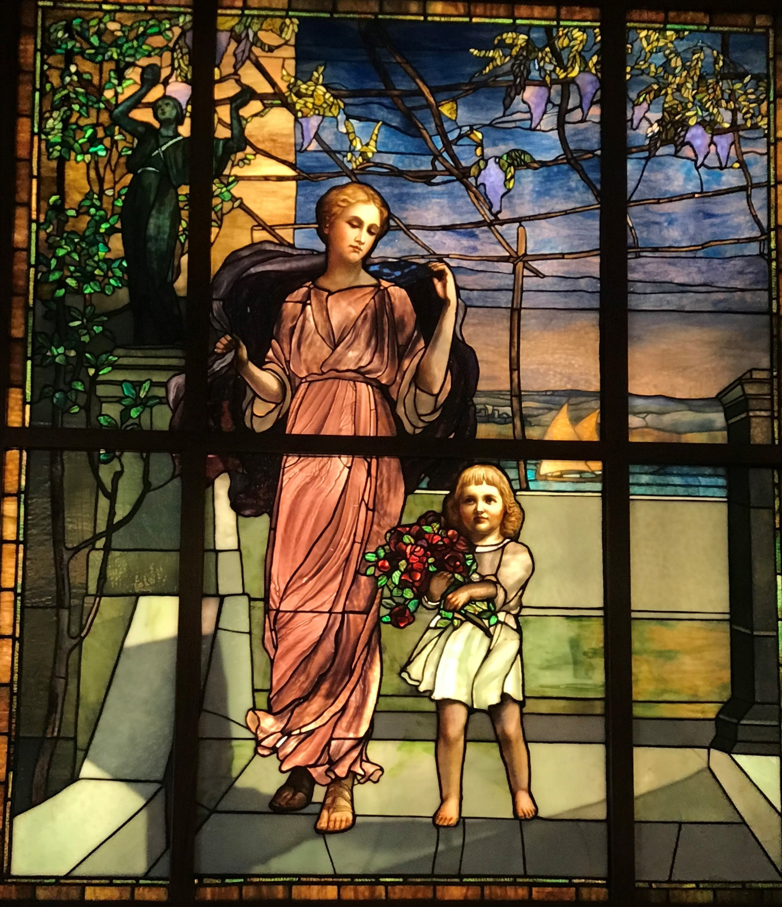 The Halim Museum of Time and Glass includes this window by Louis Comfort Tiffany, it's Cameel Halim's favorite window in the collection