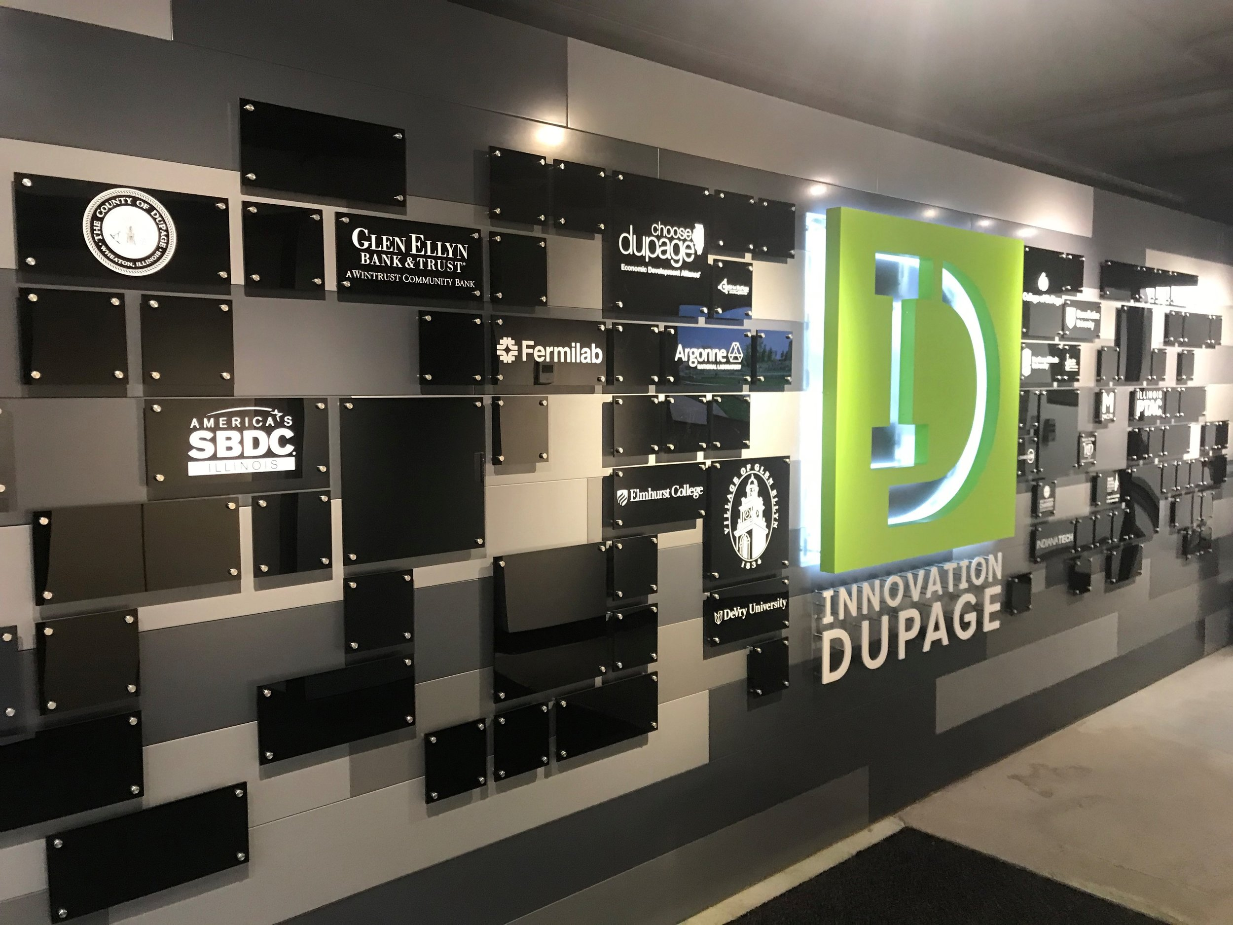 Partnerships with colleges and universities, businesses, and local governments helped to make the Innovation DuPage facility and its programs possible