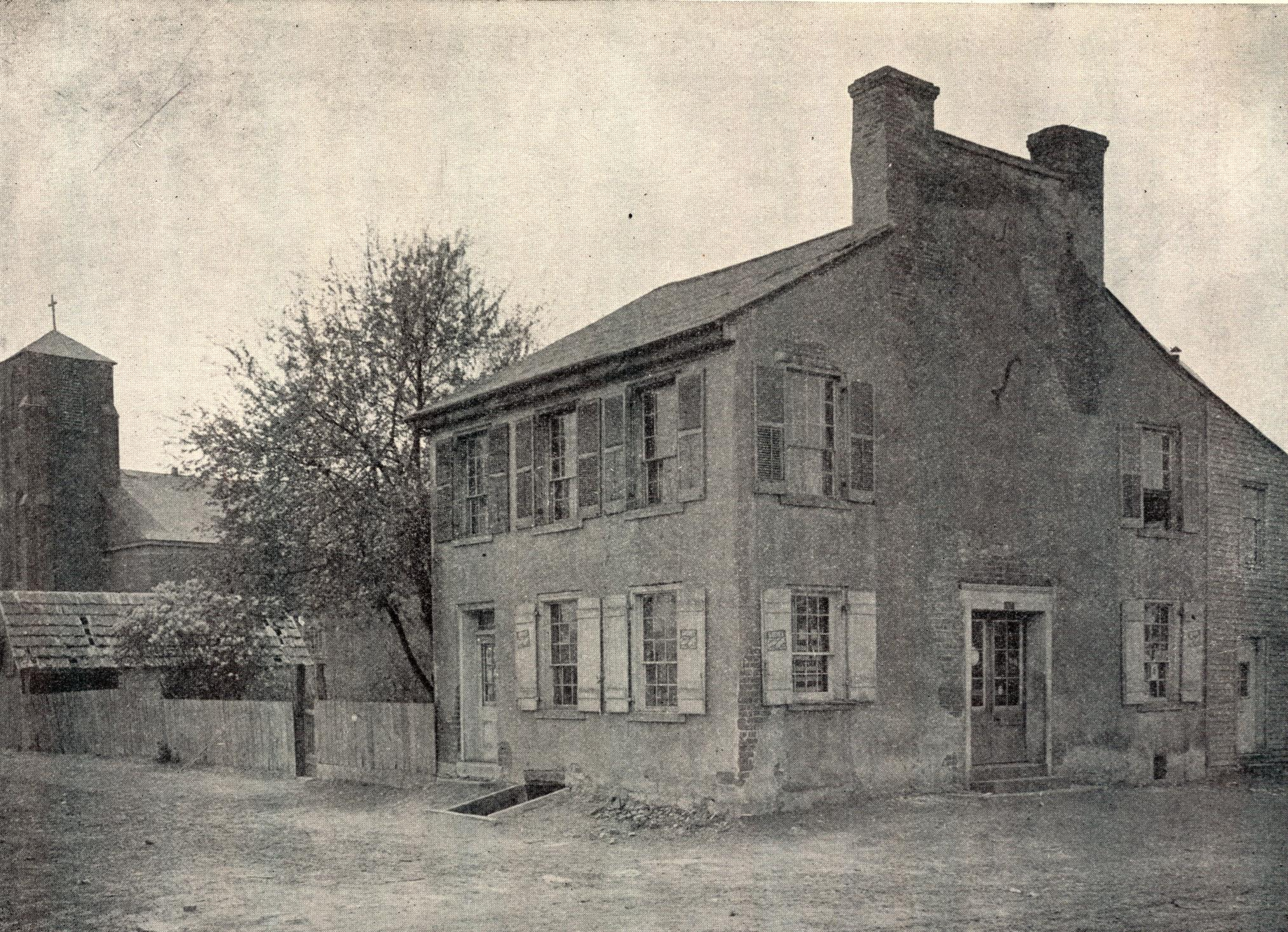 The first Illinois Assembly met in this building in Kaskaskia