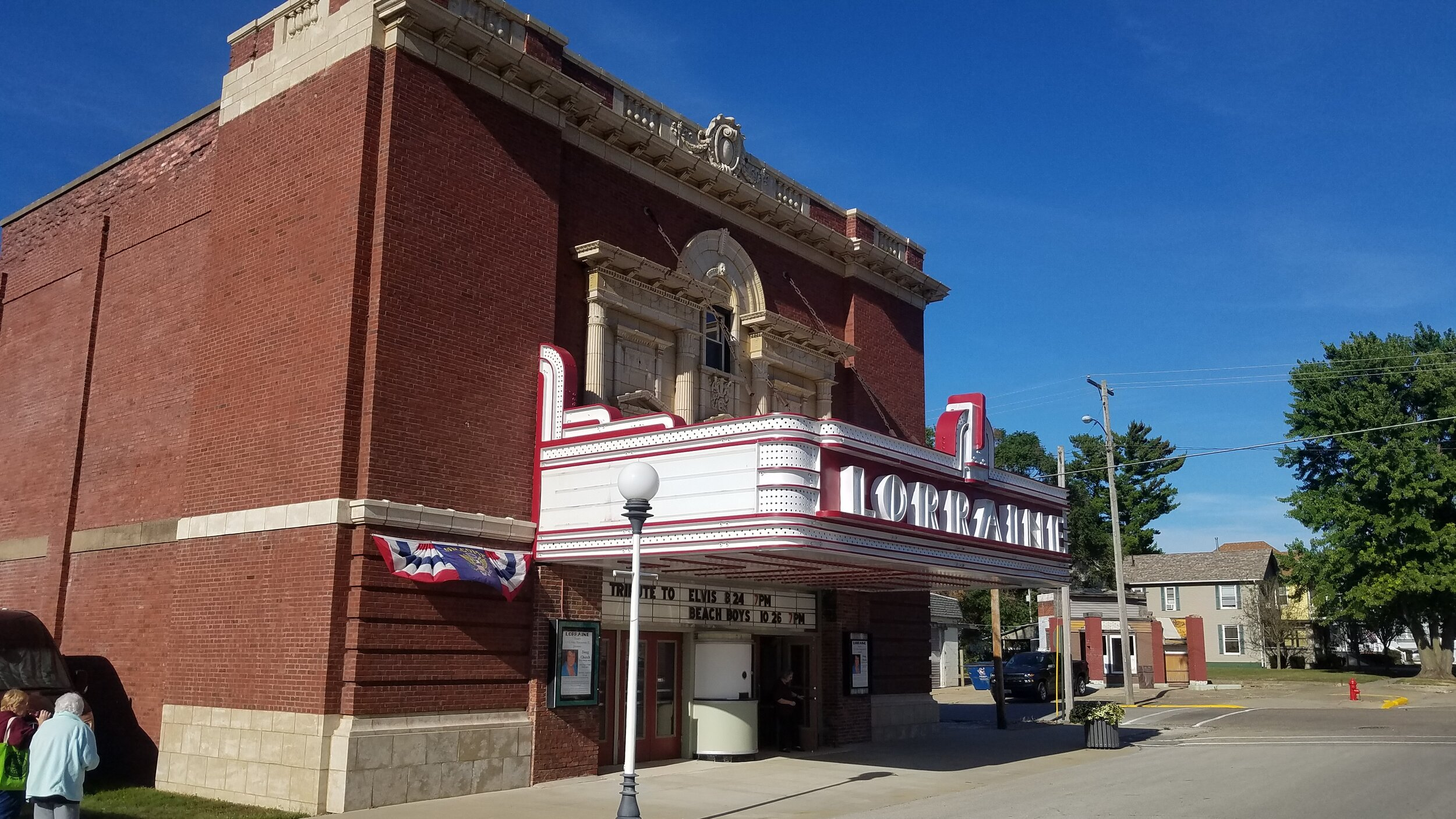The Lorraine, located on Main Street in downtown Lorraine, operated as a movie theatre from 1922 to 2012. Today, the Save The Lorraine Foundation operates the theatre as a multi-use venue, and is continuing its restoration. ( Photo Credit: Jim Meadows/Illinois Public Media)