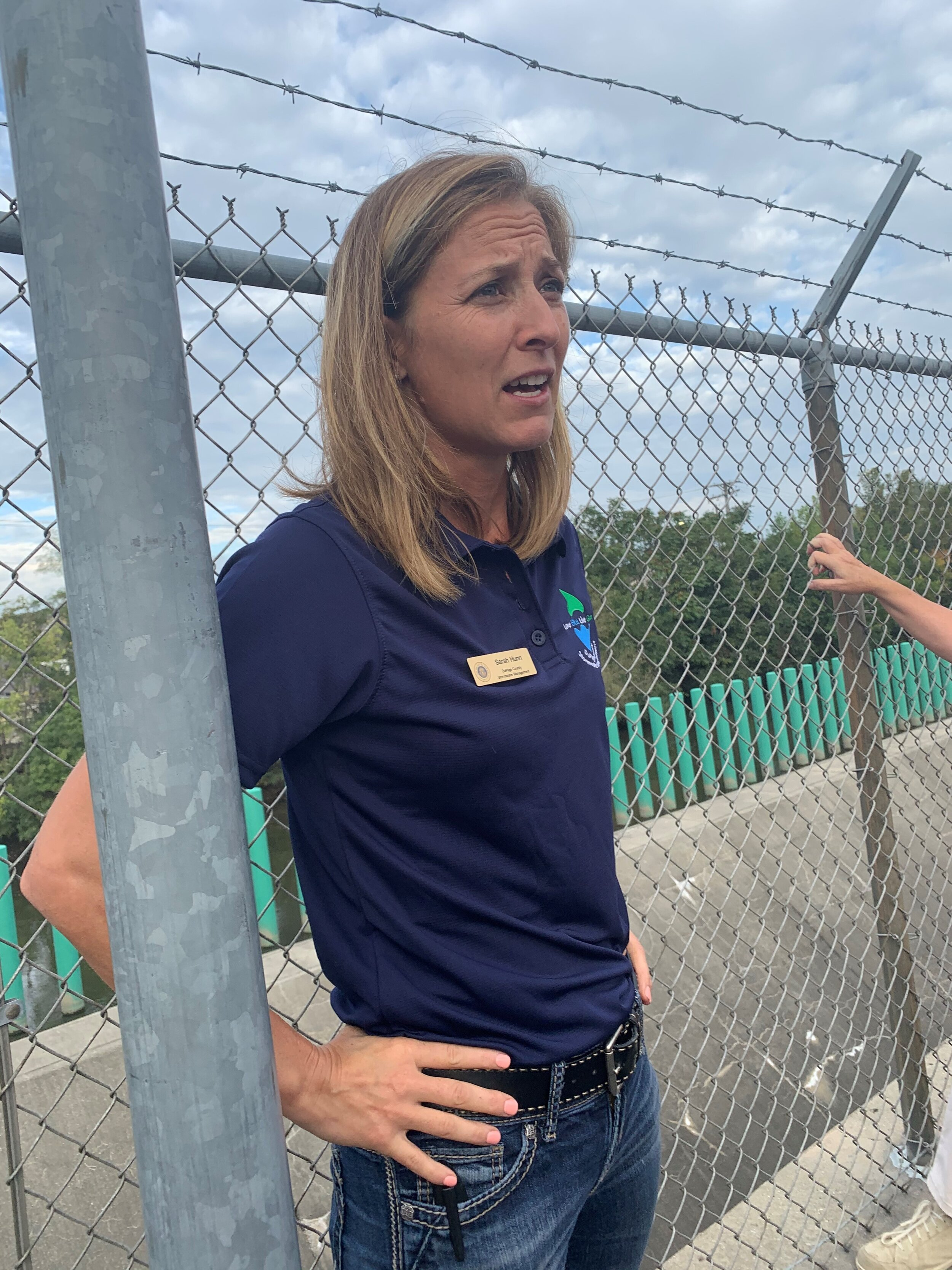 Storm Water Management Deputy Director Sarah Hunn gave an overview of the quarry operation during the recent tour of the facility