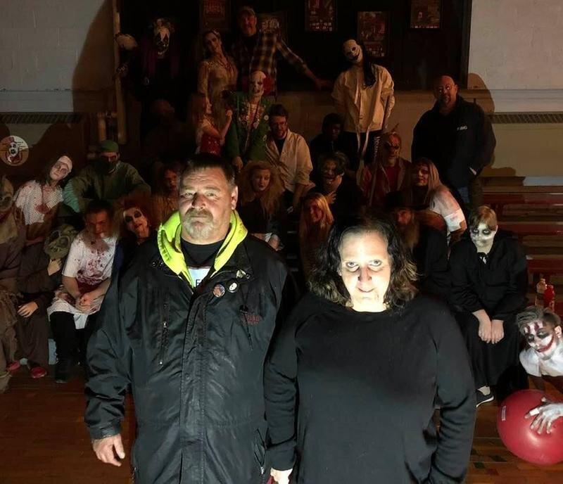 Brian Thomas and Ann-Margret Naber own the Screamatorium. (photo courtesy of WNIJ/Connie Kuntz)