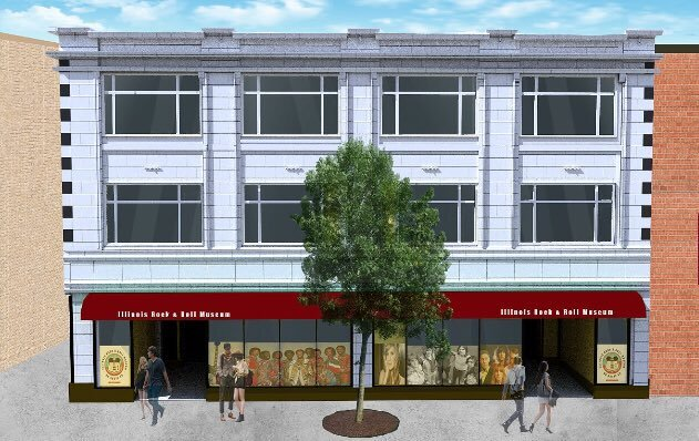 Artist Rendering of the planned Illinois Rock & Roll Museum in Joliet. Planners expect to open the first floor of the museum next year