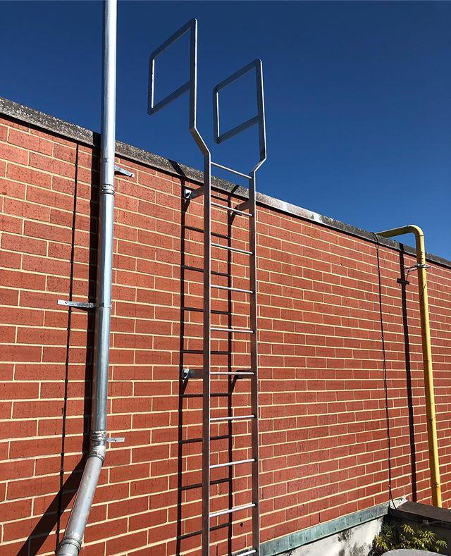 New roof ladder installed today #designfabricateinstall #metalfab #miscmetals #miscellaneousmetals #welder #welders #welding #fabricator #galvanized #ladder #roofladder #holycross #worcester #worcesterma #olearywelding