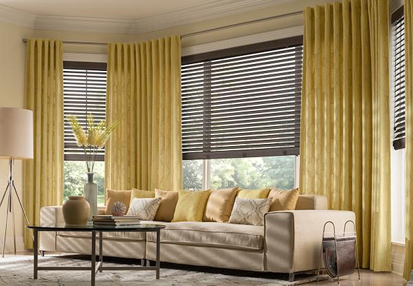 bay window drapes