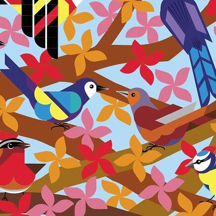 Hello autumn! 🍁🍂 . . . #joannawebster #stickerart #geometricart #illustration #autumn #birds #stickerstudio