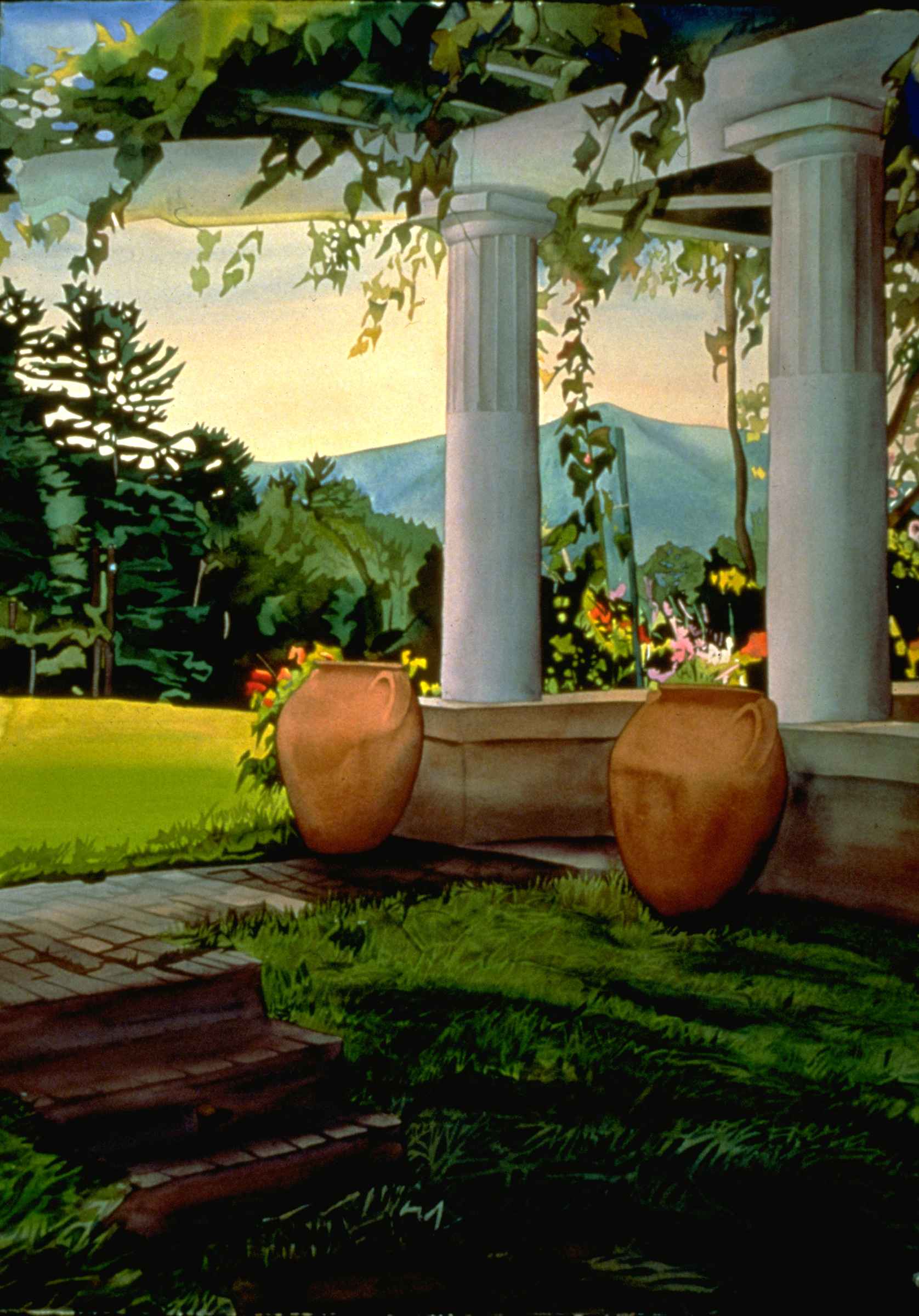 Urns With Mountainview