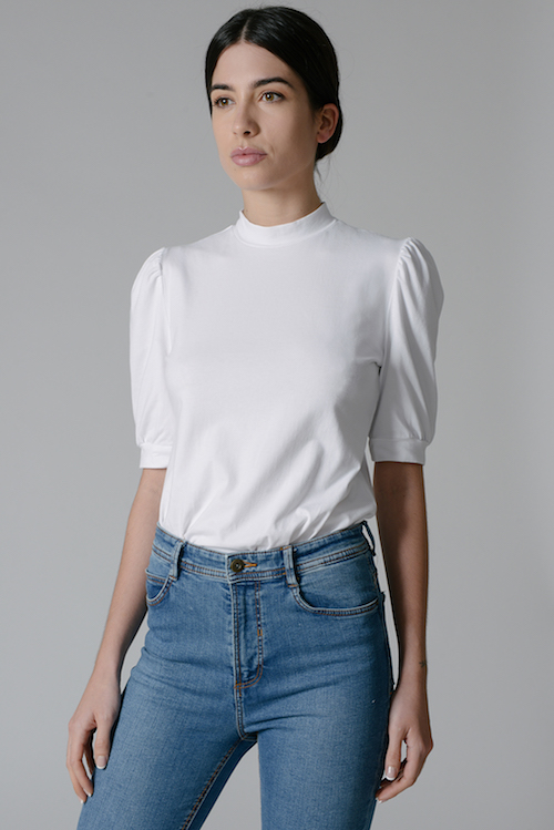 Grace White Front Tucked organic cotton tops.jpg