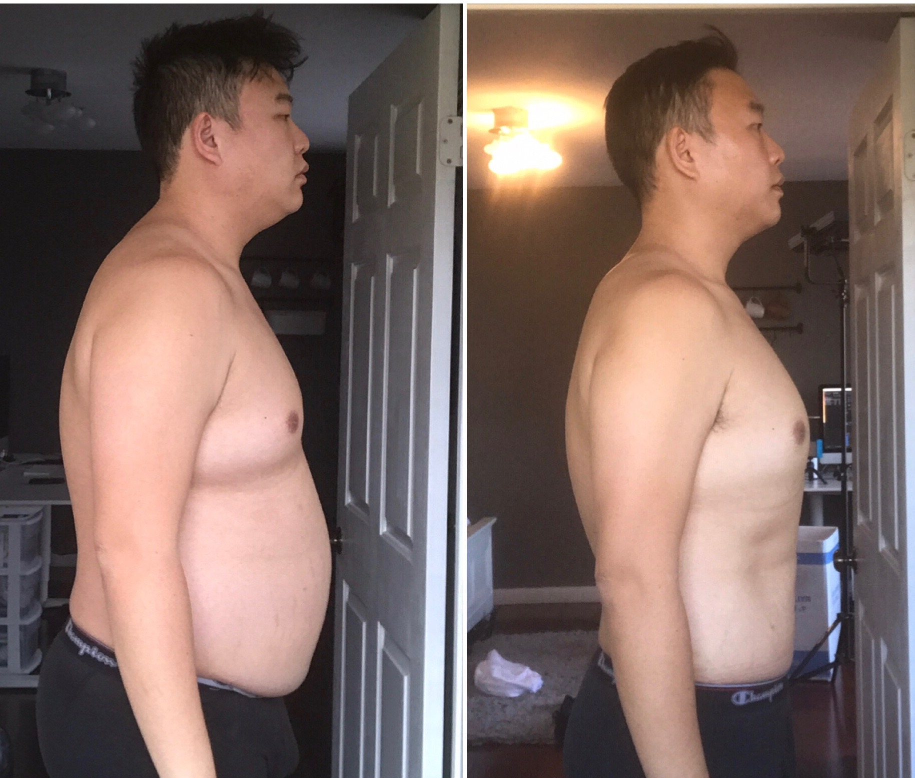 Through his hard work and consistent training/nutrition, David lost 60lbs.