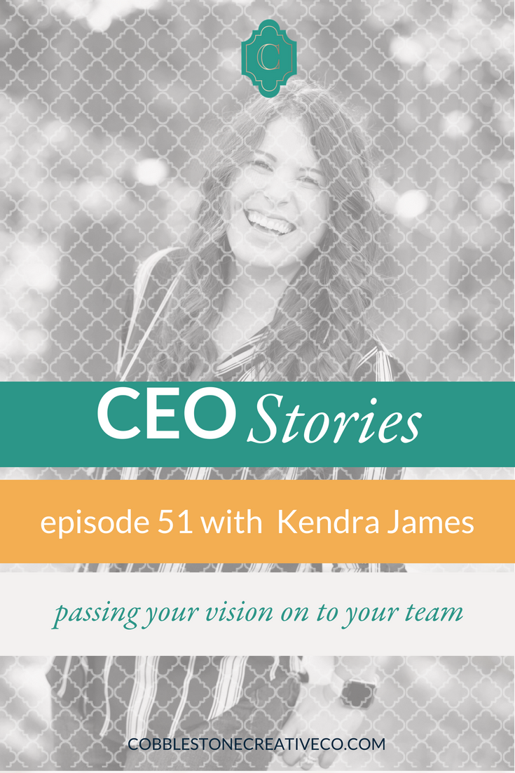 There's nothing like losing your corporate safety net to shift you into your full CEO role. Kendra James how she went from CEO-ish to full on visionary and how she makes sure her team and her investments keep the business on course for her big vision.