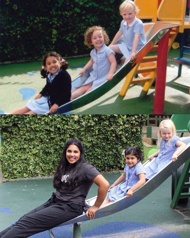 Such a delight to have @tash.arora back at Oakfield for her work experience! A lovely week reminiscing with all her Aunties and teaching the next generation of Oakfieldians! (Class of 2007) 💛 #oakfieldianforlife