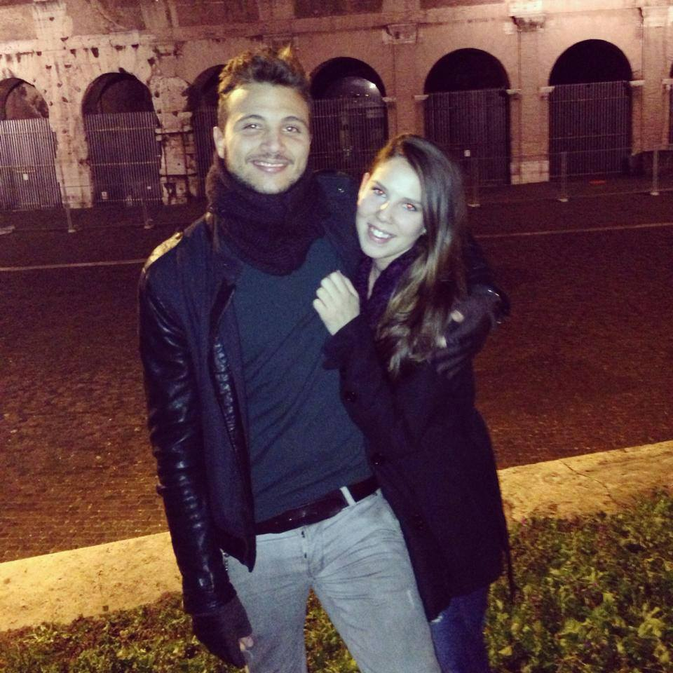 Our first picture together taken the night before I left Italy in 2013