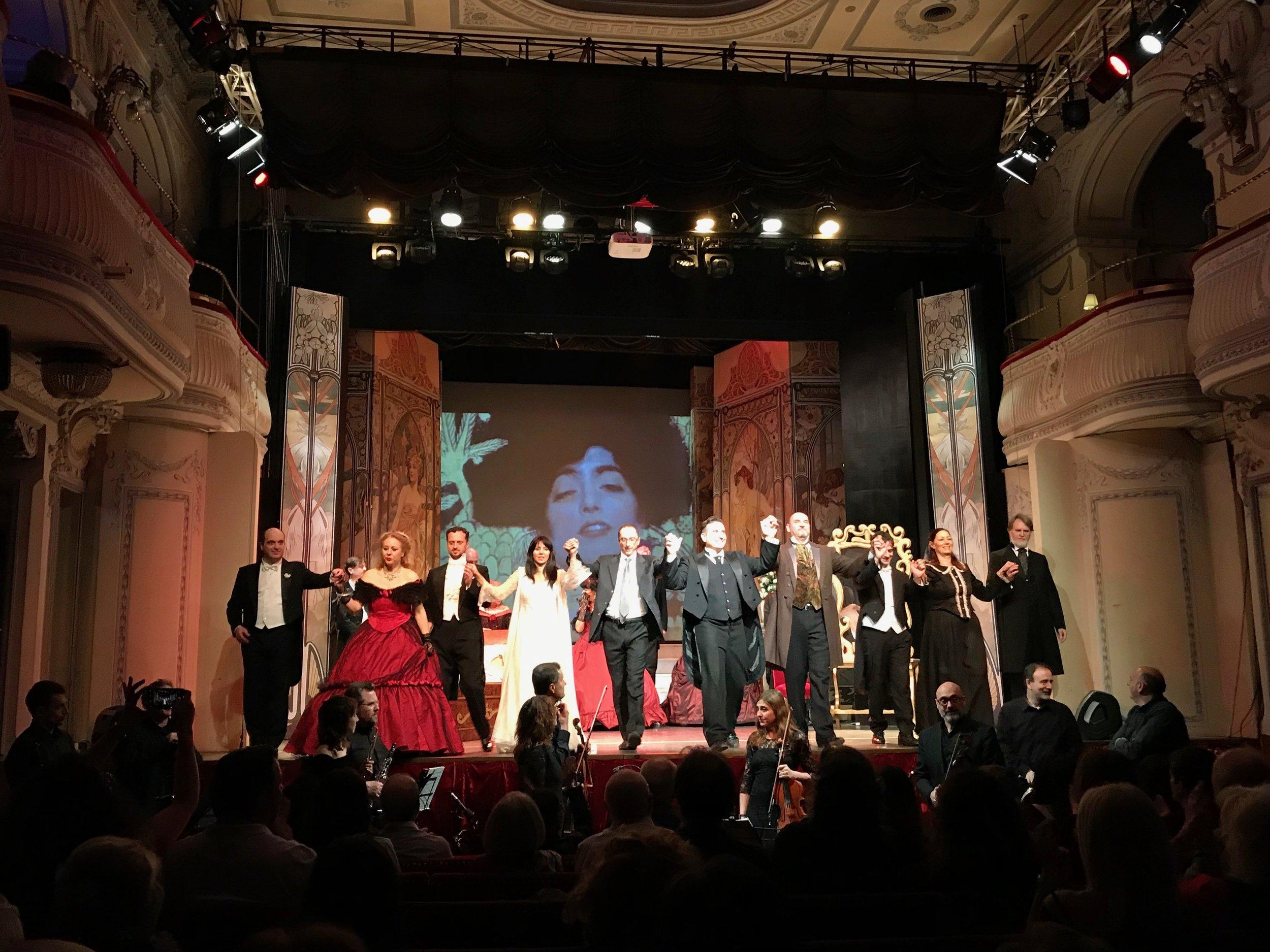 The fabulous cast of La Traviata in Rome