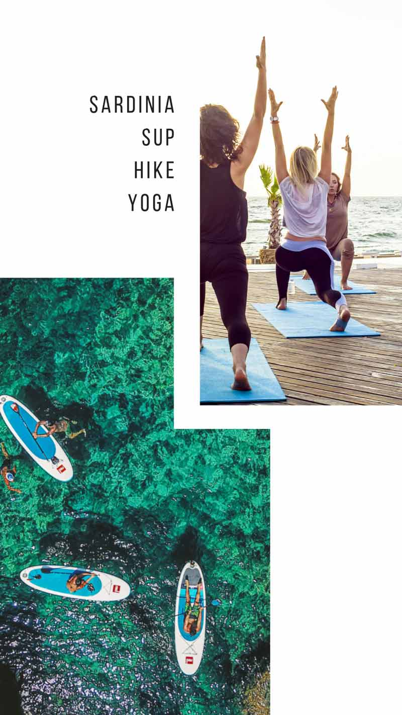 Active Relaxation in Sardinia - Dates: 21st May - 28th MayPackage: £1119Airport: Alghero, SardiniaFlight Price: £65Activities:PaddleboardingYogaHikingSUPyogaAcroyogaWine tastingNo previous experience required!