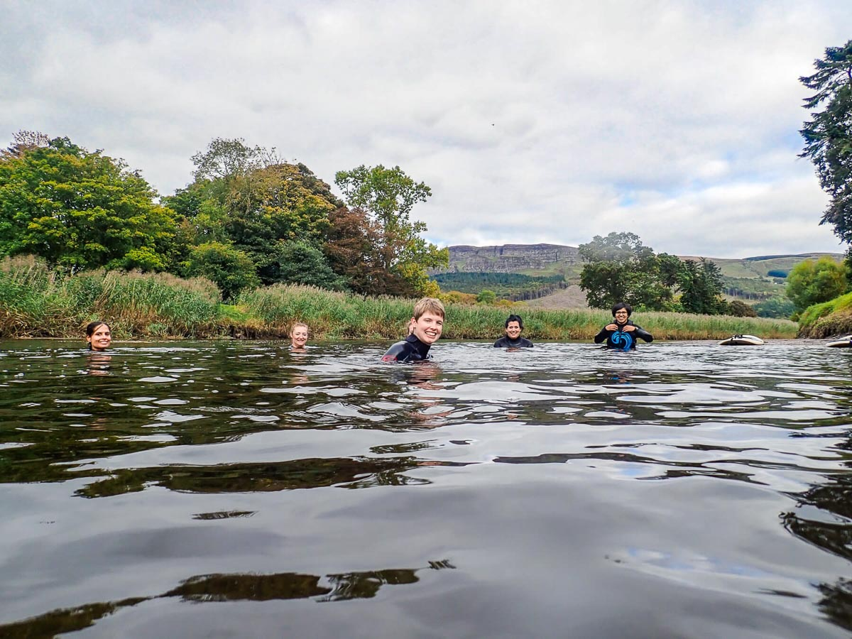 WILD SWIMMING - After our coffee, we'll have some time to play on the range of SUP boards and enjoy some wild swimming in the river.We provide wetsuits to keep you nice and warm for your swim.