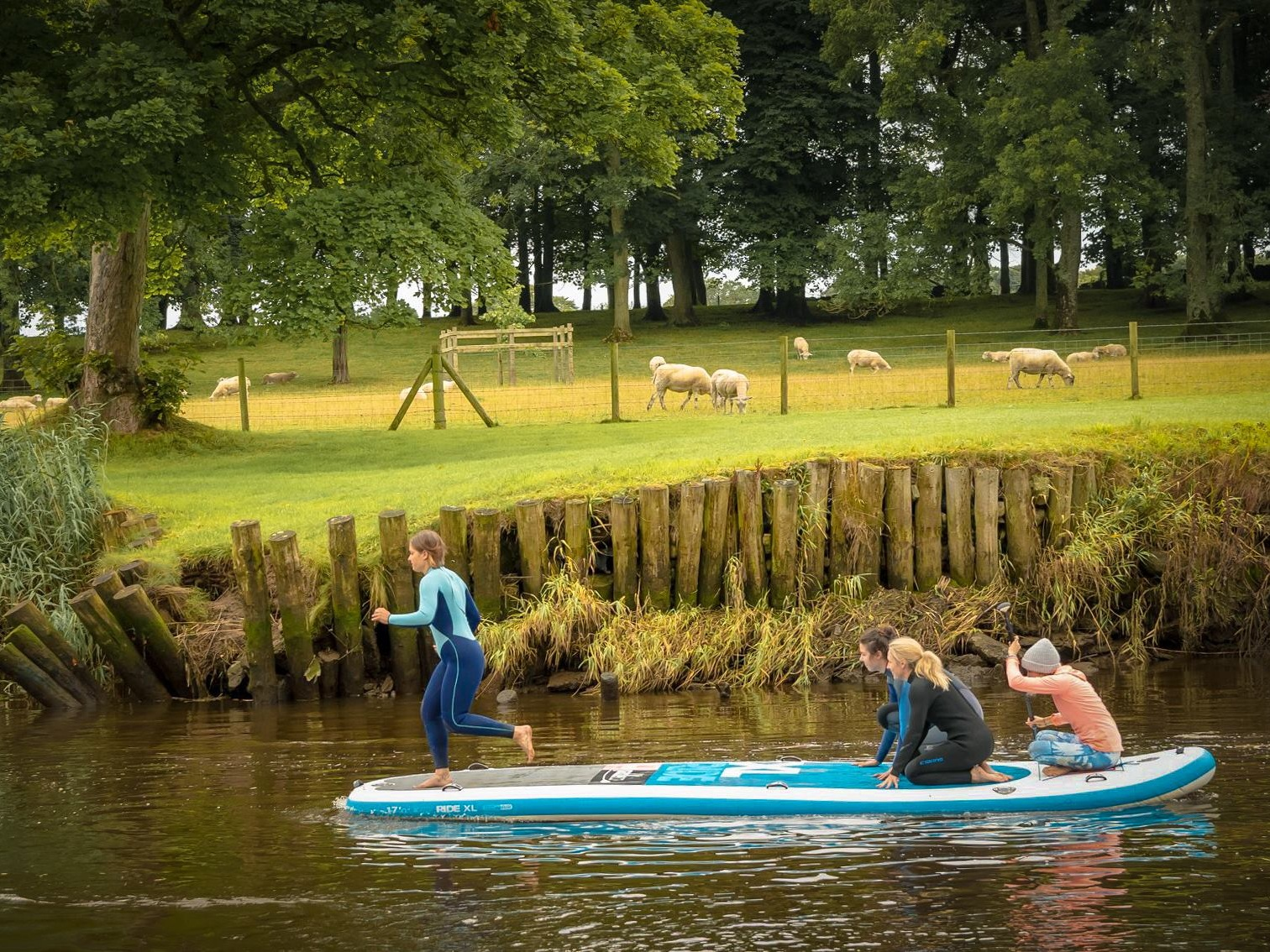 STAND UP PADDLEBOARDING - RIVER ROE | NORTHERN IRELANDLearn to standup paddleboard with us on the River Roe.SUP, wild swim and coffee with us for a day on a river.