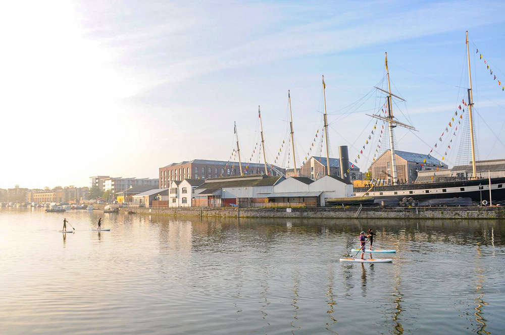 HARBOURSIDE ADVENTURE - •Expert coaching to get you standing•Paddling and turning techniques•2-2.5h guided SUP Tour•Board and Wetsuit hire•Meet likeminded women!•Join Bristol SUP's weekday paddles for £12