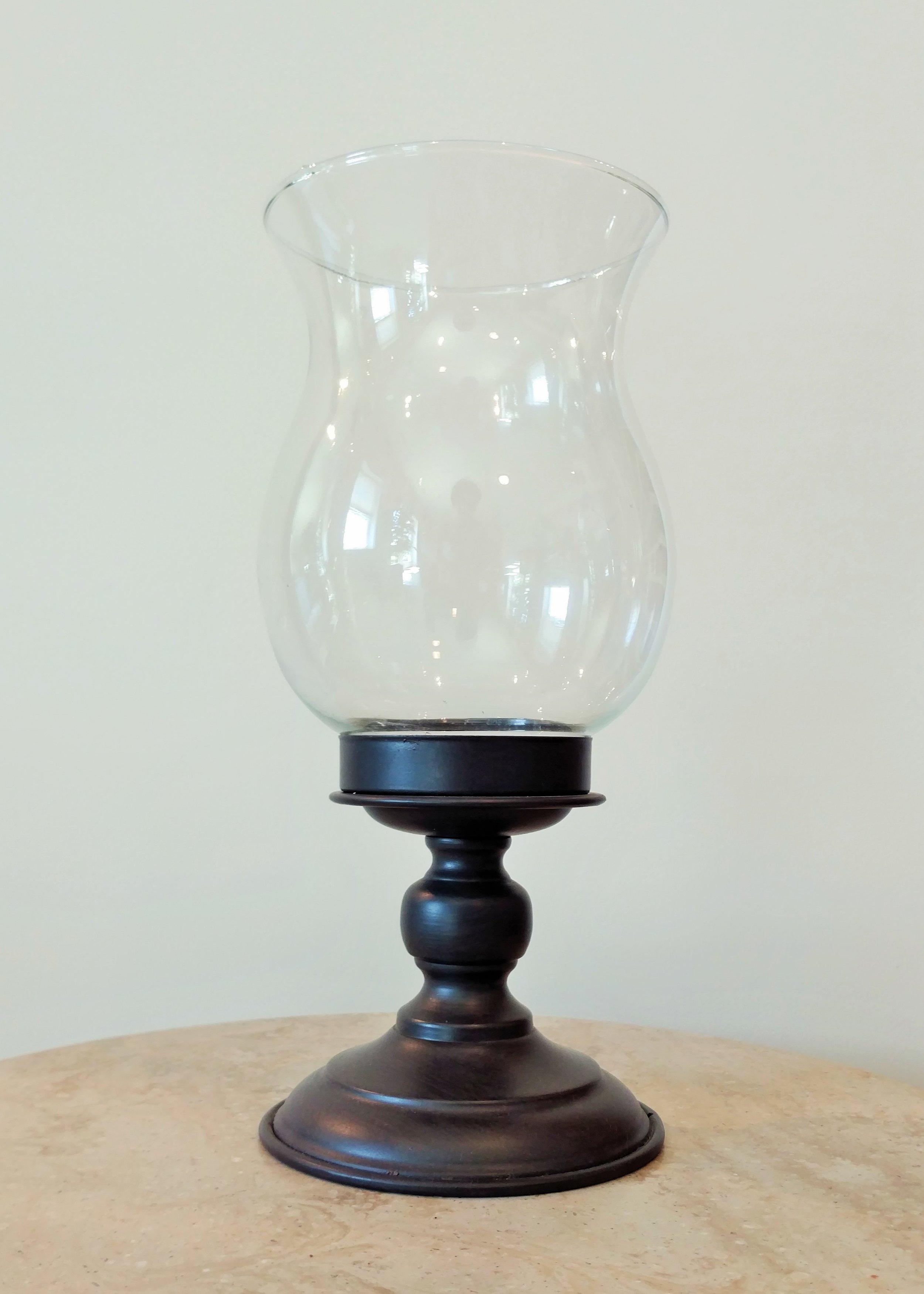 "13"" Hurricane Lamp Black"