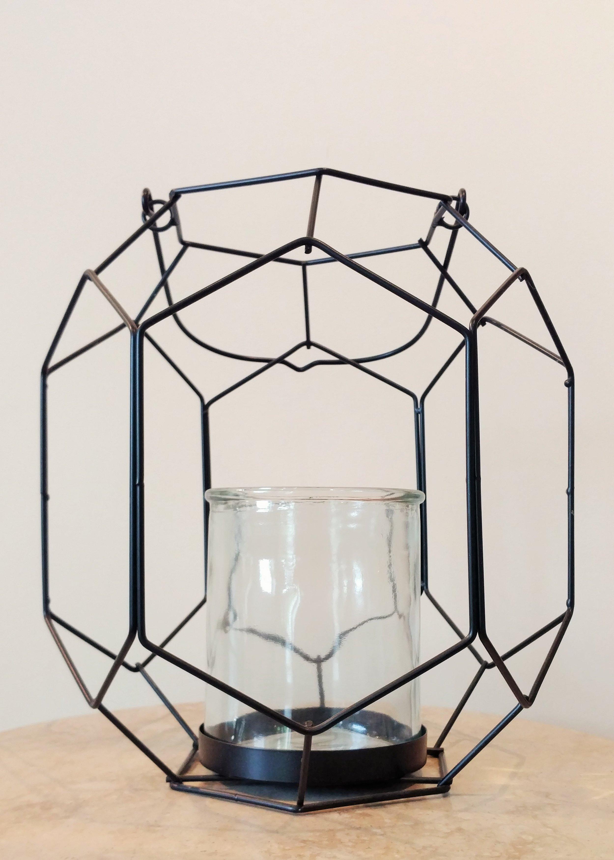 """12"""" Geometric Hanging Lantern"""