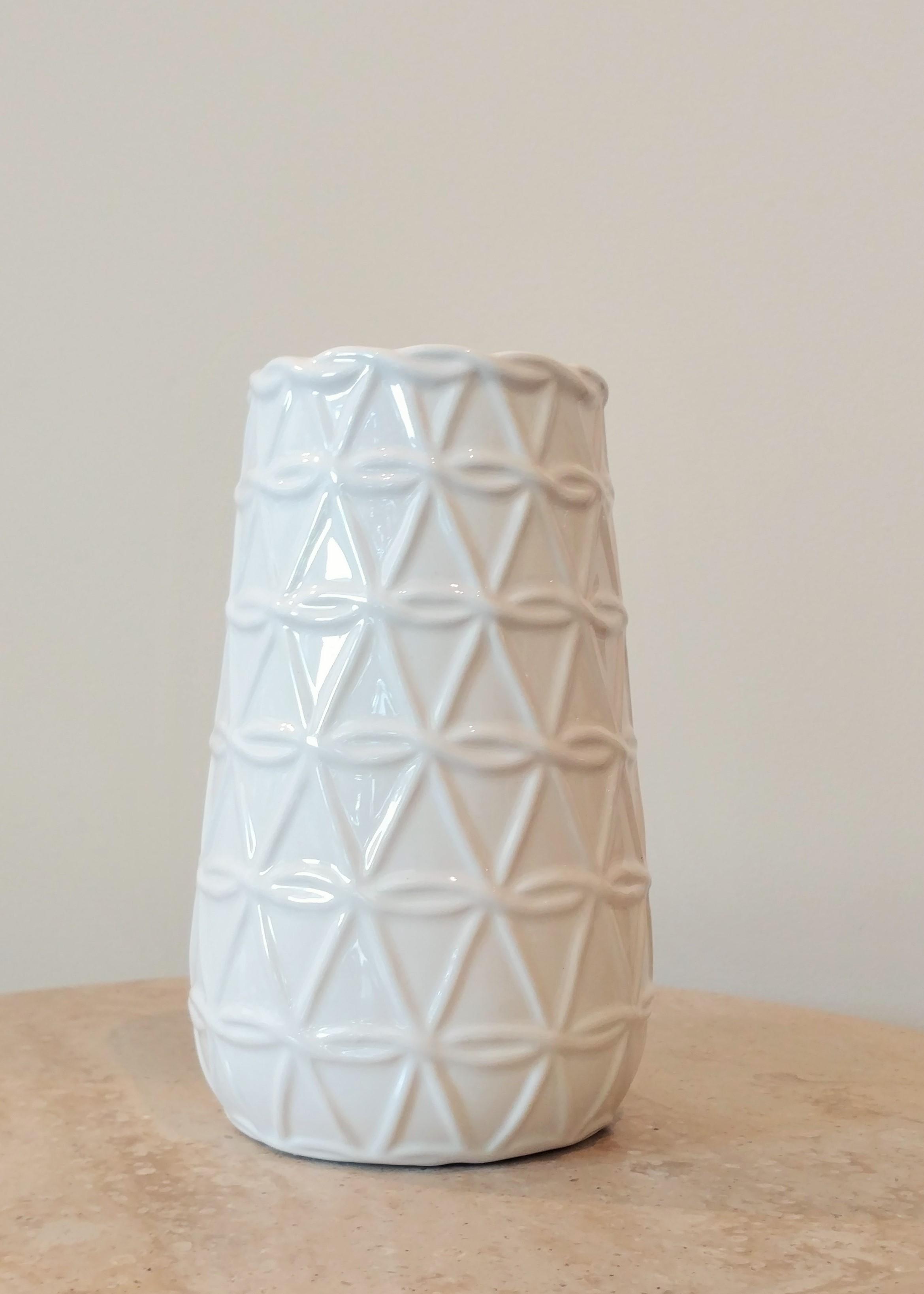 """7.5"""" Geometric Vase (3.5"""" Diameter)"""
