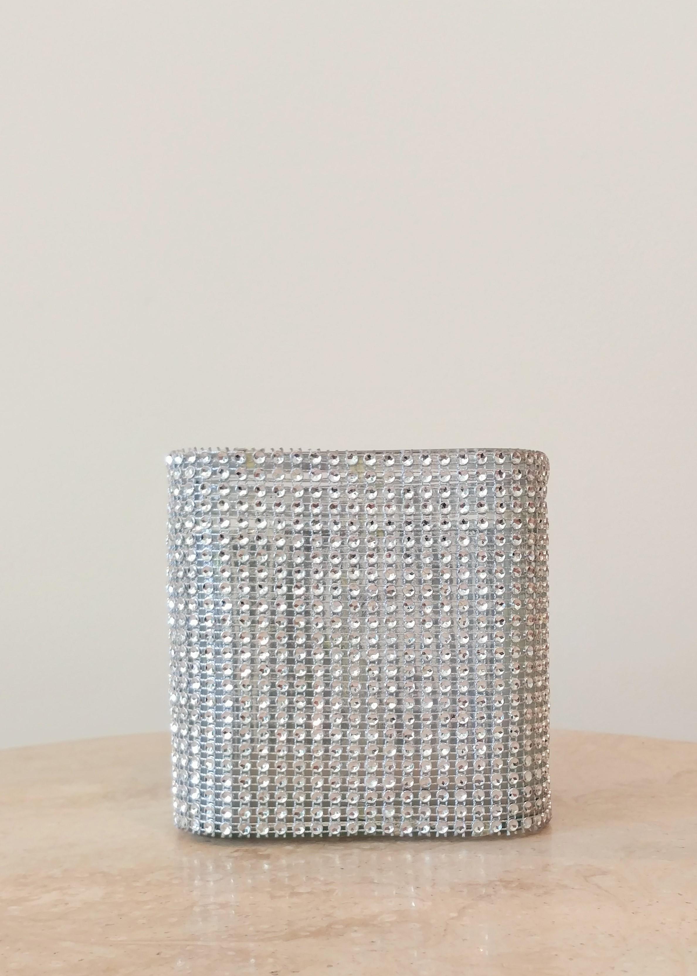 """5"""" Jeweled Square Vase (5"""" Diameter)"""