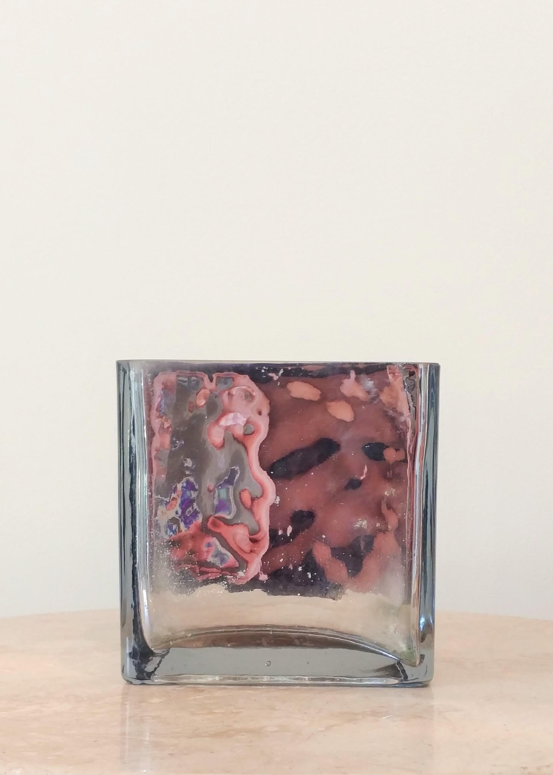 """5"""" Metallic Square Vase (5"""" Diameter)"""
