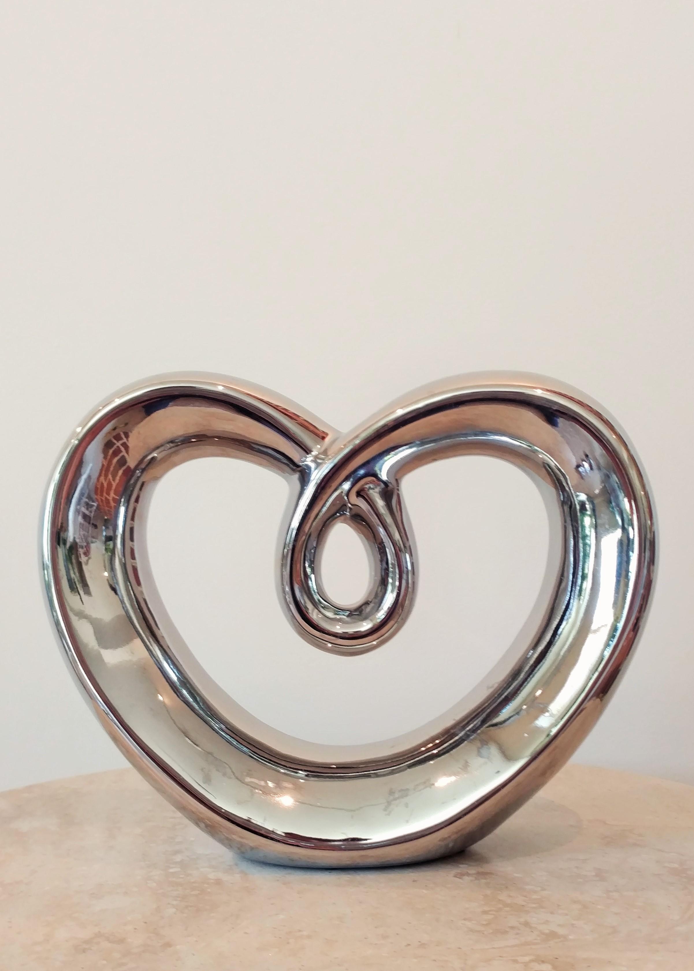 "7.5"" Metallic Heart"