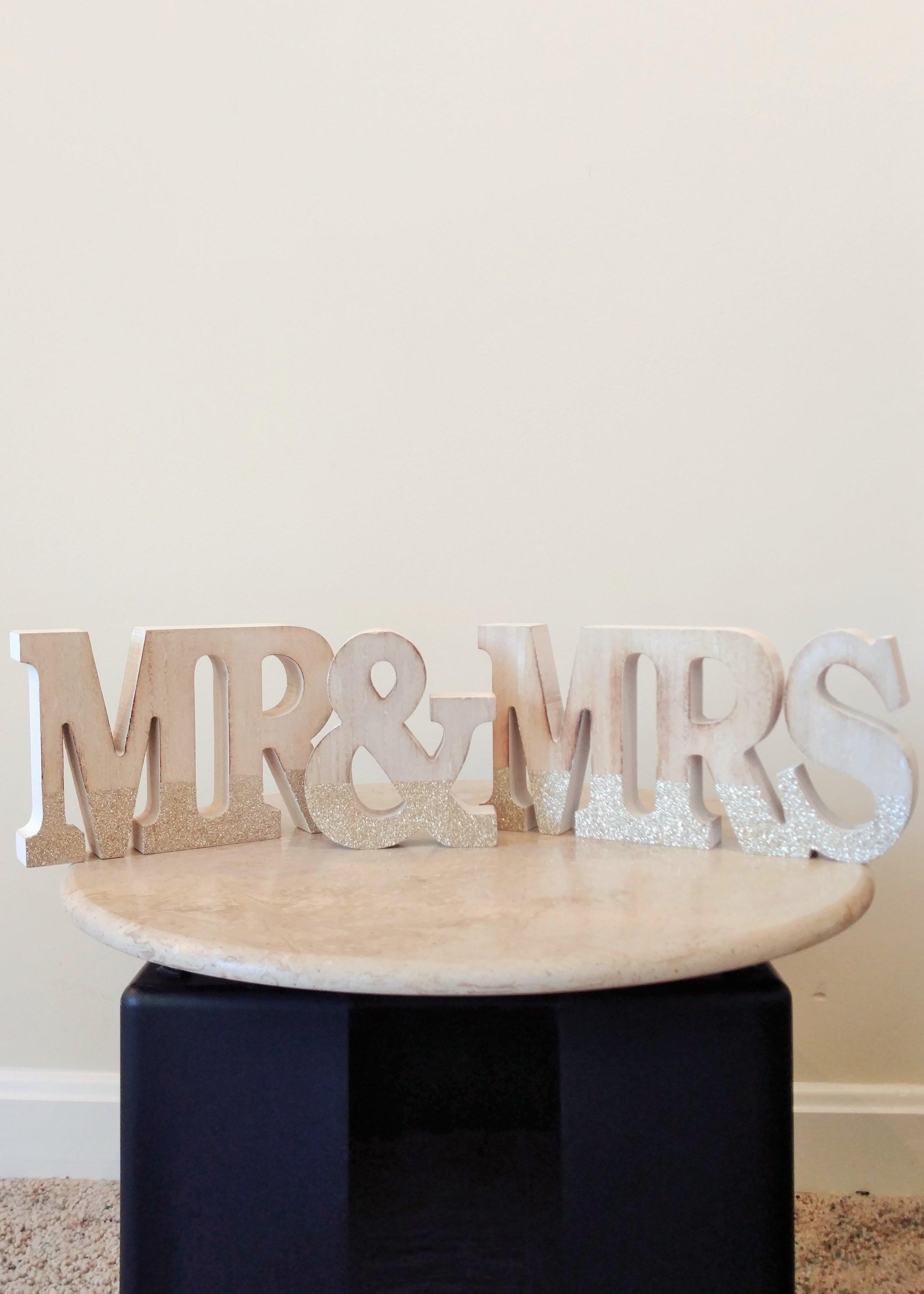 """5"""" Mr. & Mrs. (Painted Wood)"""
