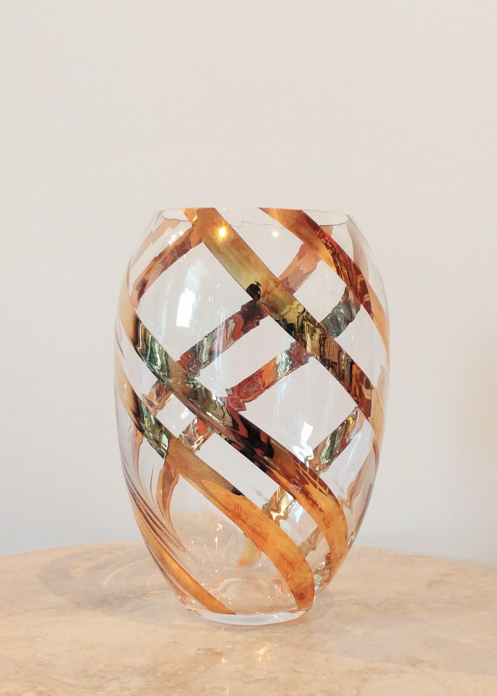 "9.5"" Stylized Mercury Glass Vase (4.5"" Diameter)"