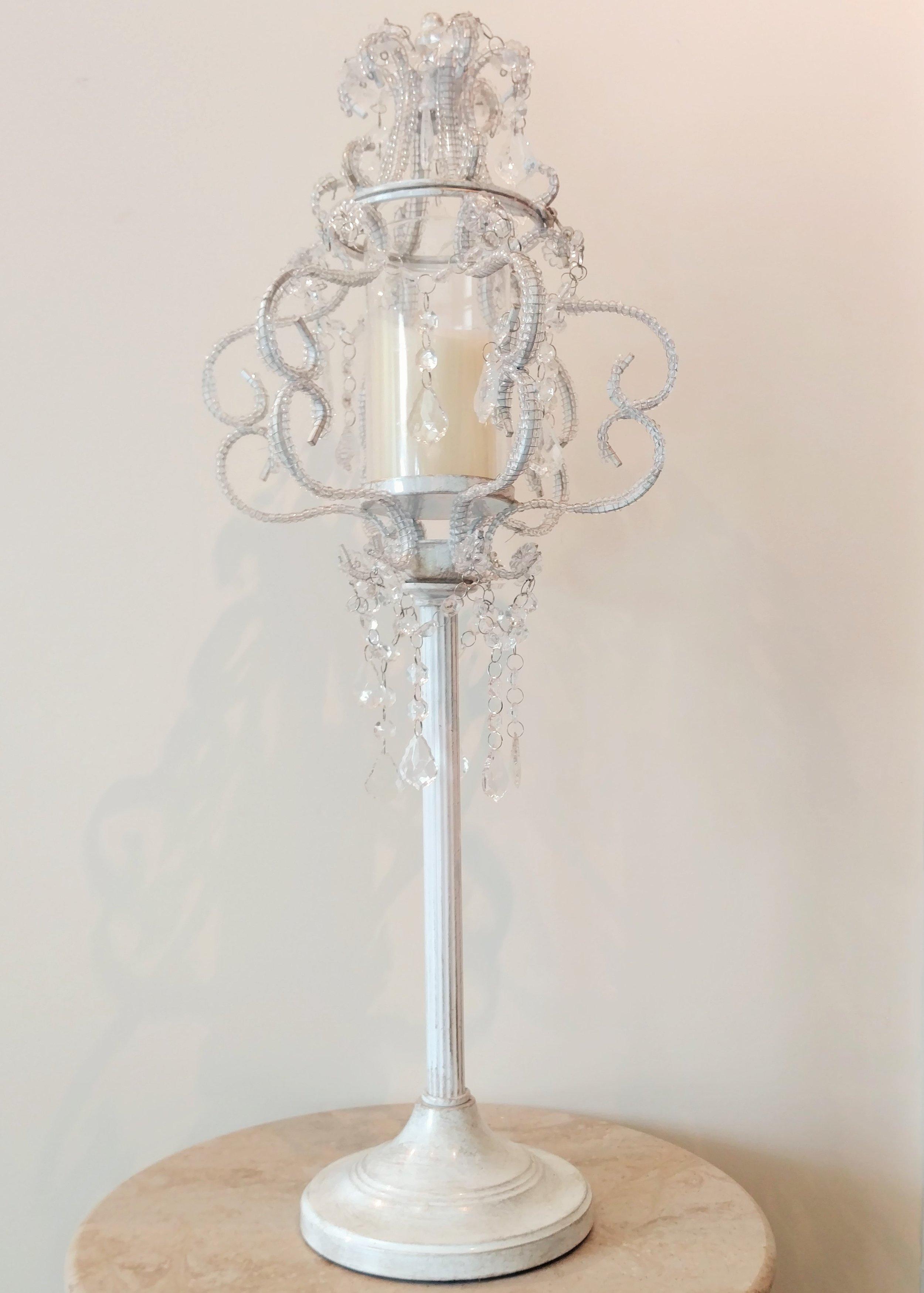 "29.5"" Raised Crystal Candle Holder"