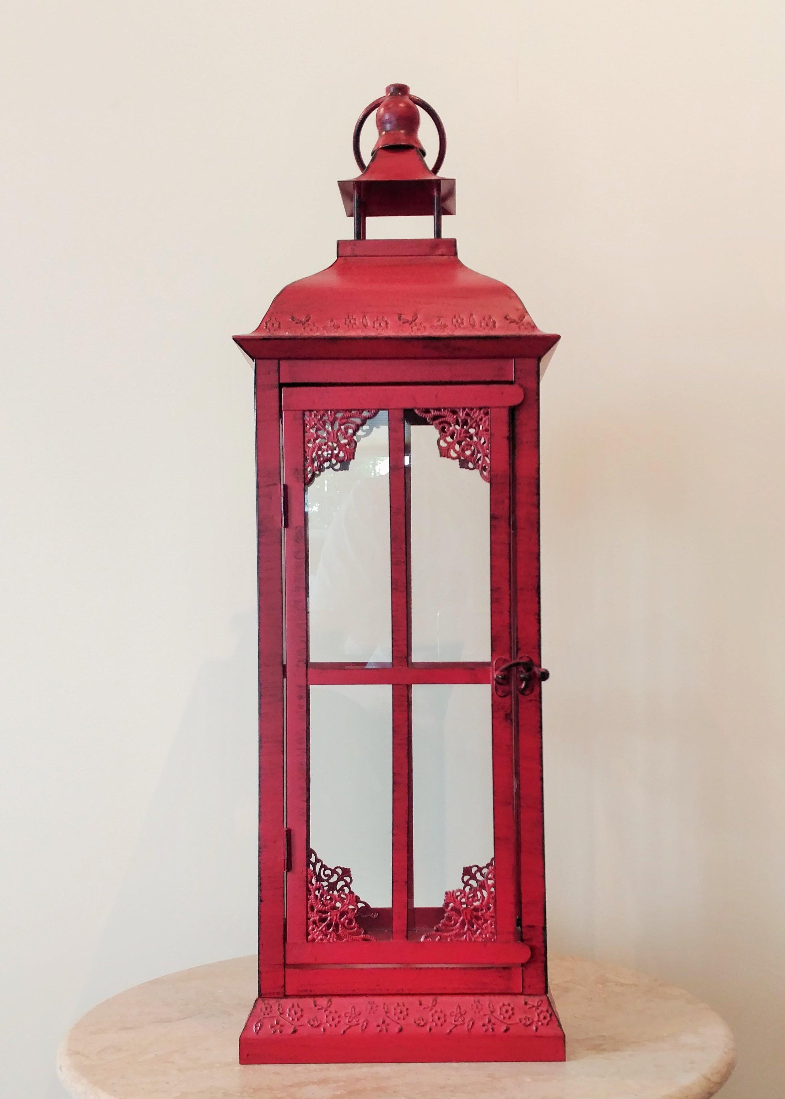 "24"" Decorative Red Lantern"