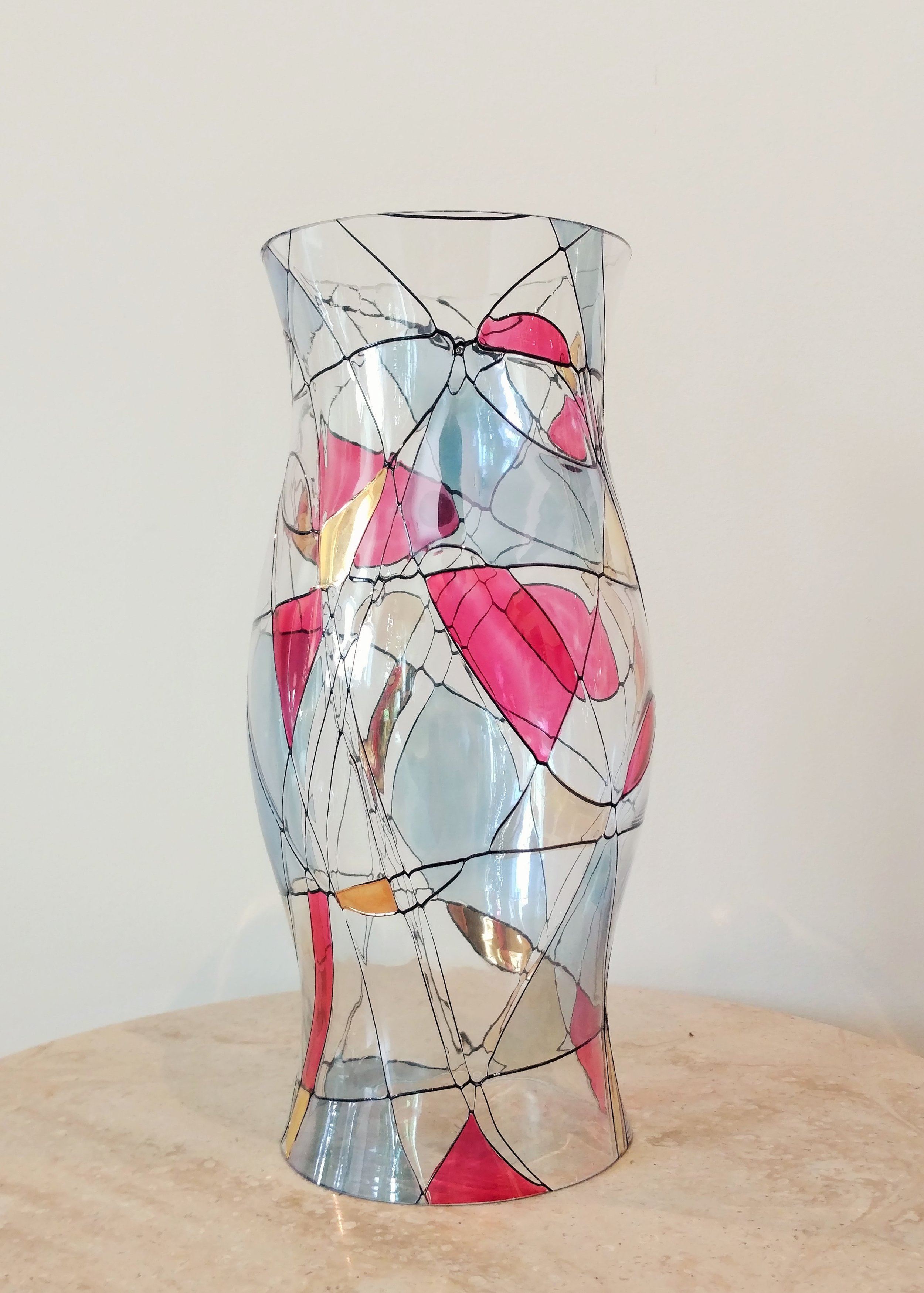 """12"""" Mercury Glass Candle Cover"""