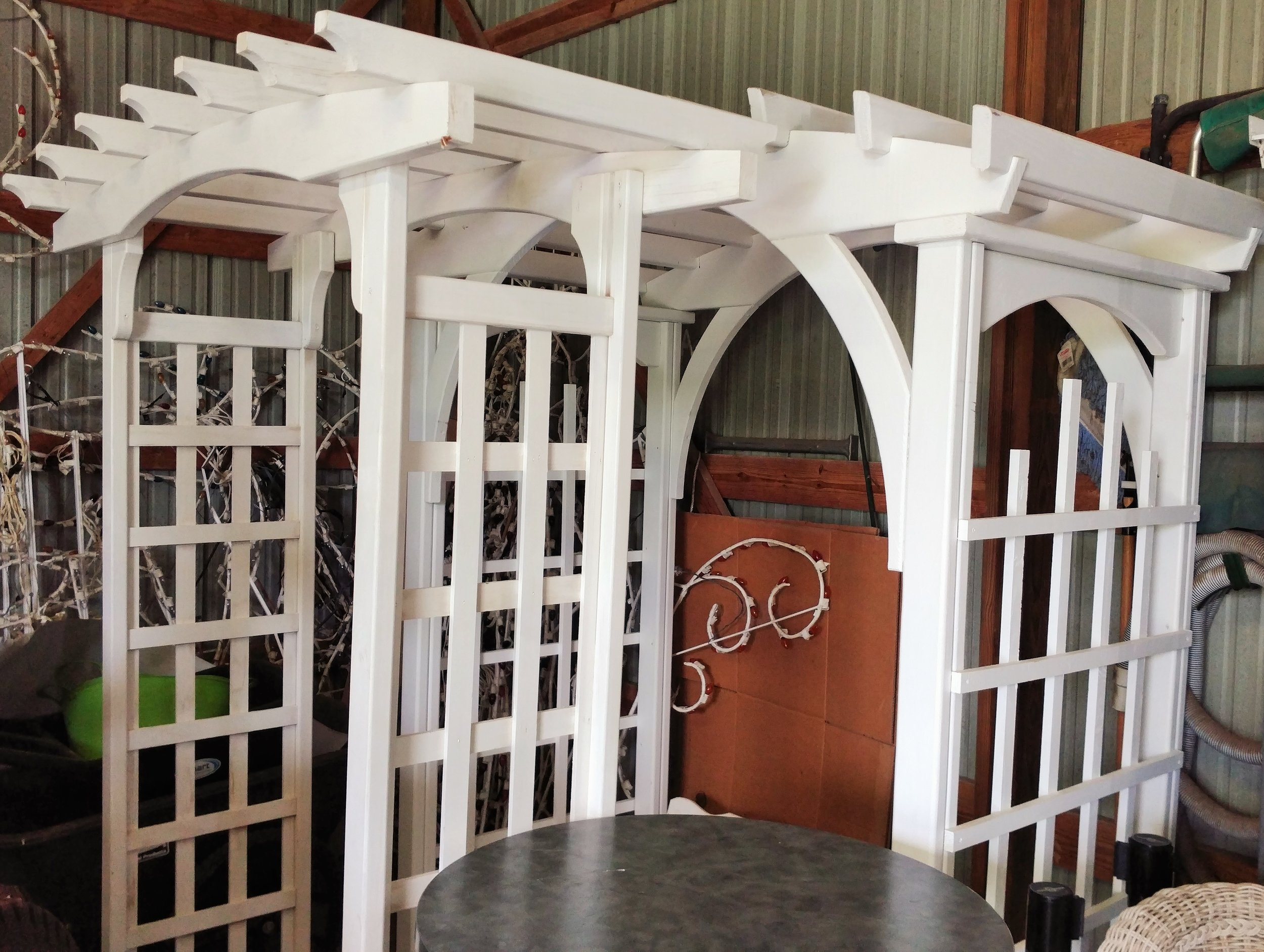 """White Archways (87"""" Tall, 47"""" Wide & 93"""" Tall, 66"""" Wide)"""