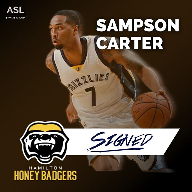 OFFICIAL: @sampcarter has signed in Canada with @cebleague team the @honeybadgers.cebl!!!