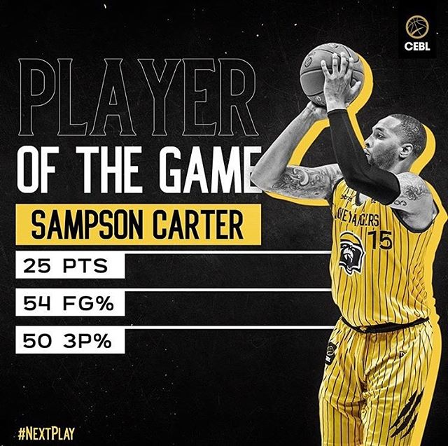 @sampcarter with a big game for the @honeybadgers.cebl in the @cebleague!!!