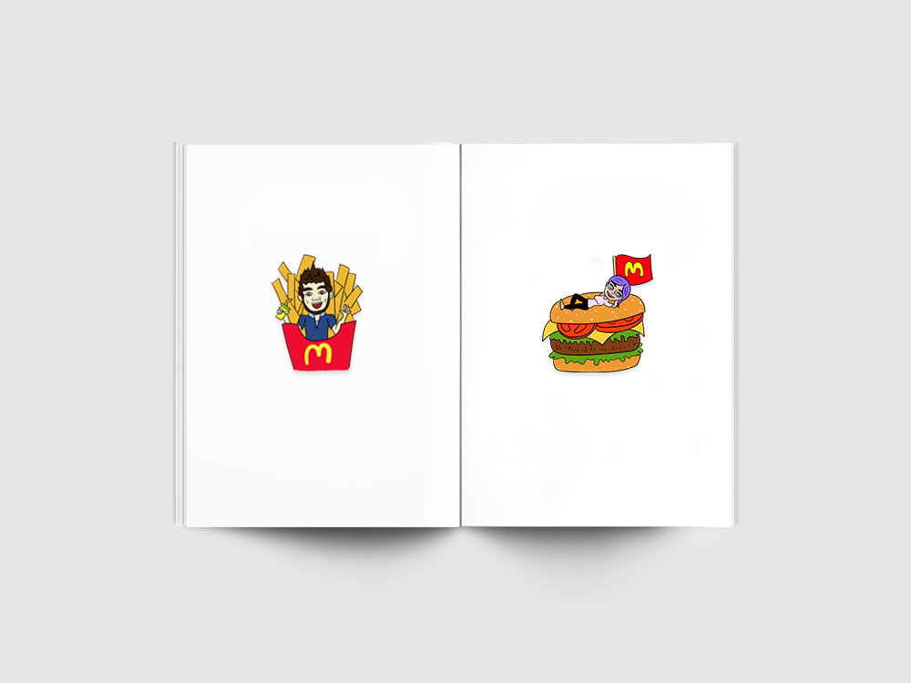 Link to Further Ads - Tap the Bitmoji Stickers and lead to Pop up Ads.For instance, someone sends you a snap with Bitmoji Sticker of him/her eating a burger. You can tap on the Sticker that leads to a website of McDonalds Delivery.