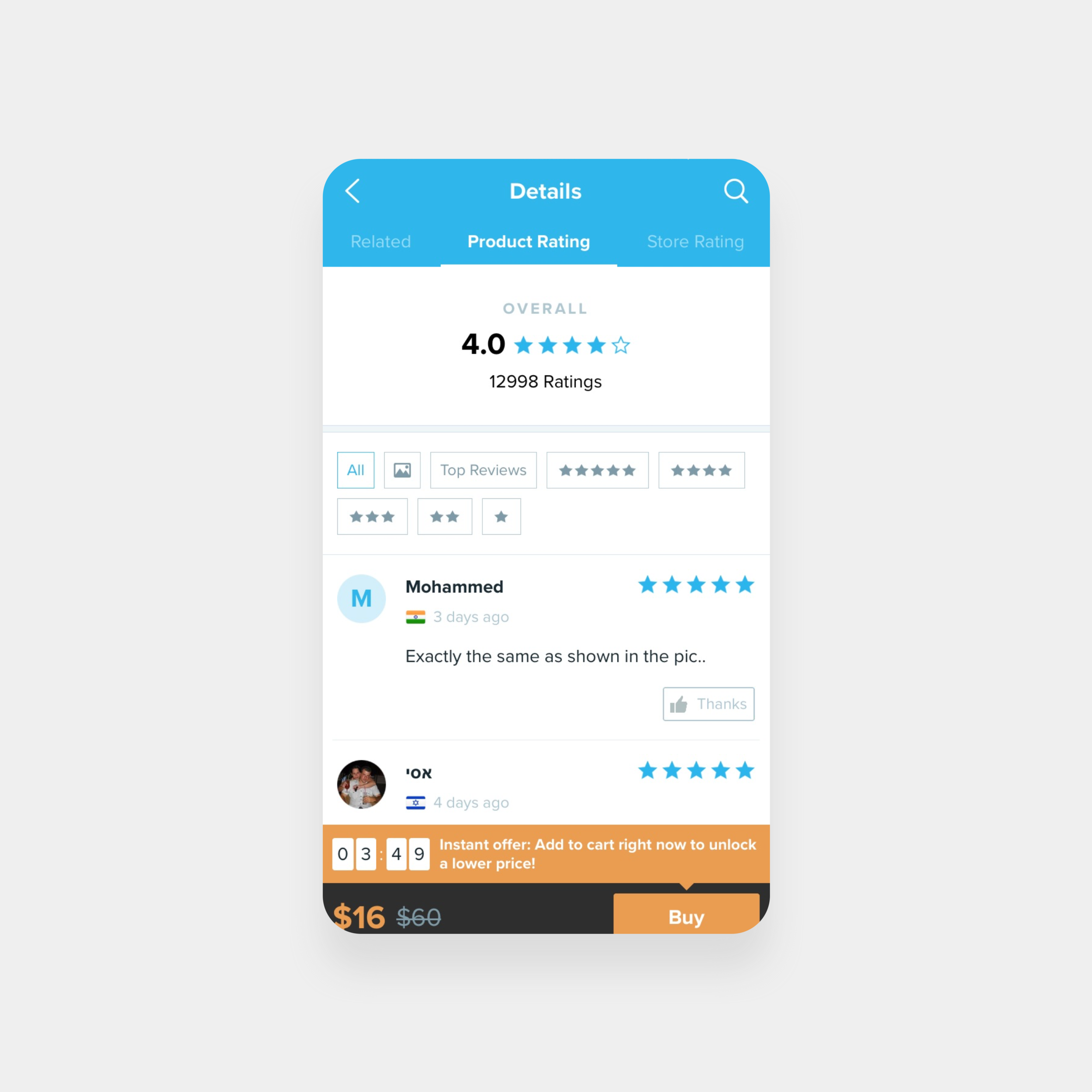 Designing for Trust in an E-commerce app. -